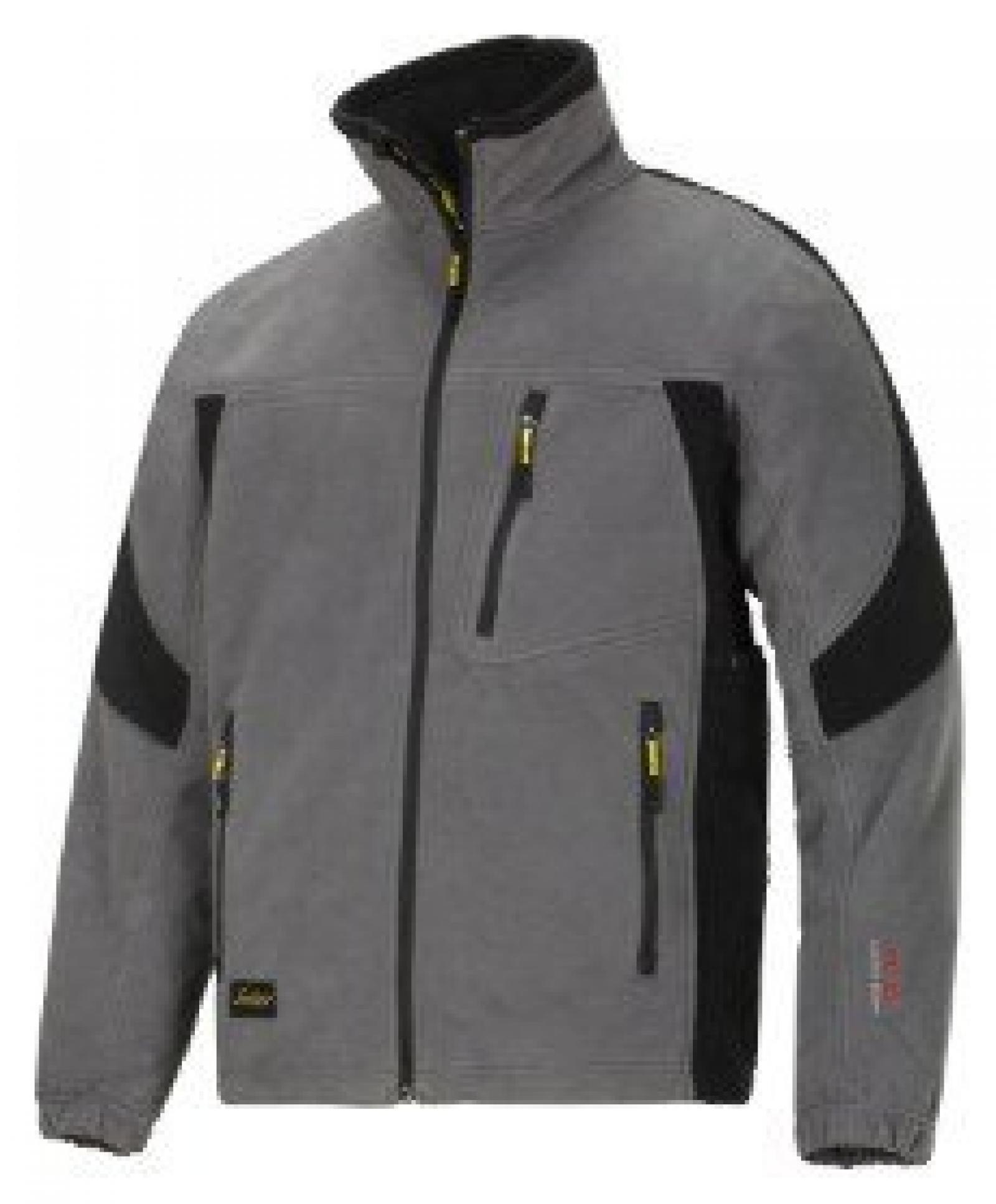 8010 Winddichte Fleece Jacke grau XS