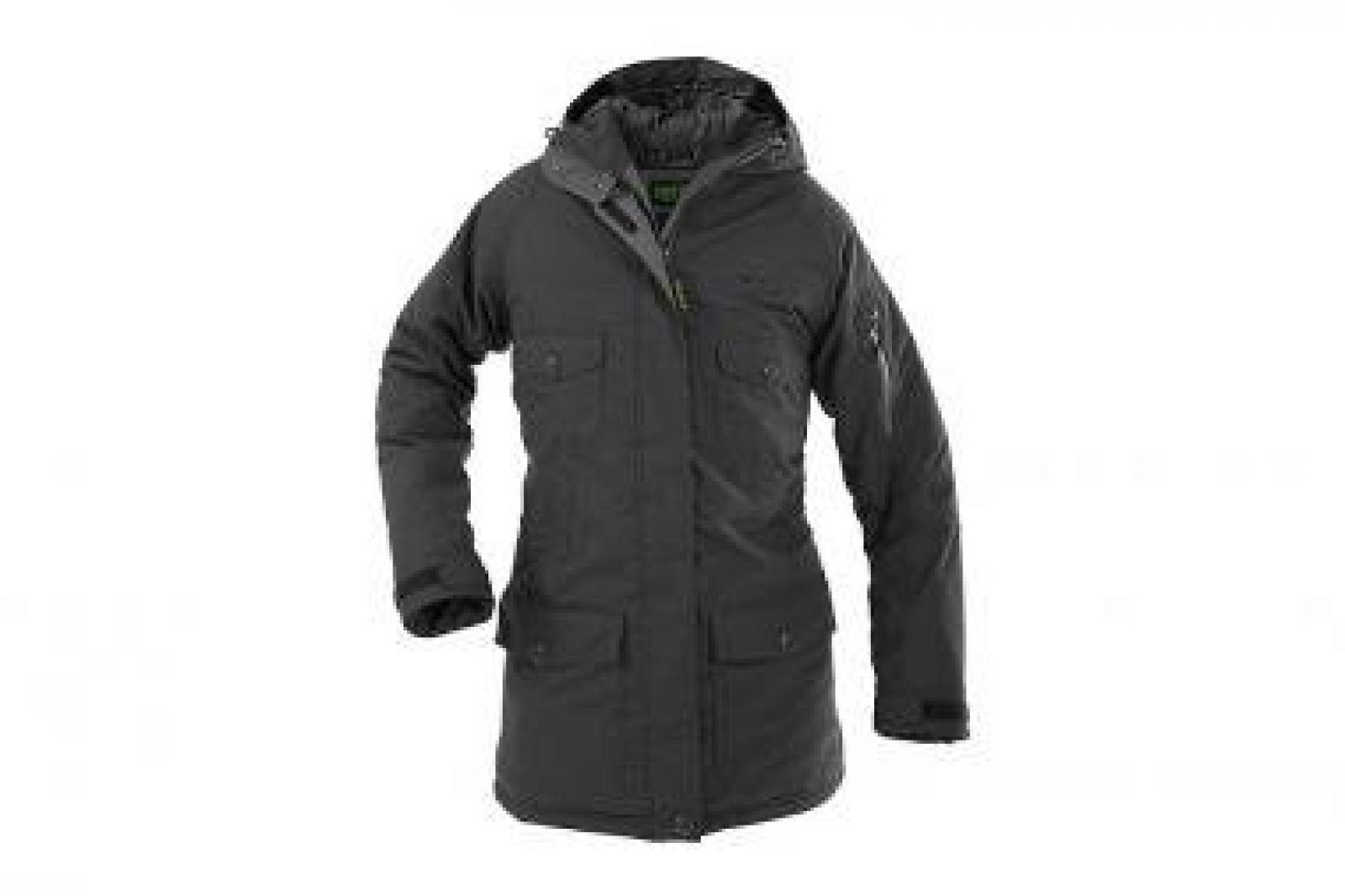 Owney Kallu Damenjacke Parka anthrazit-grau