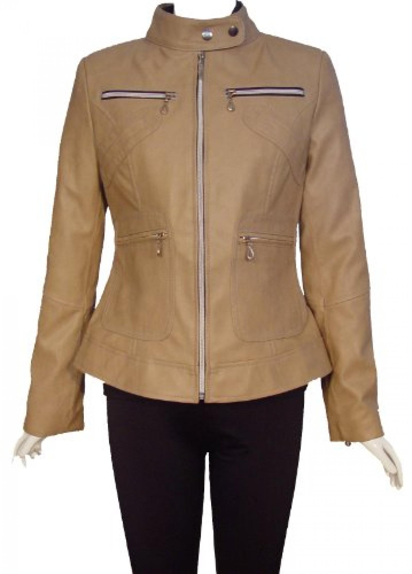 Nettailor Women PETITE SZ 4073 Lamb Leather Motorcycle Jacket