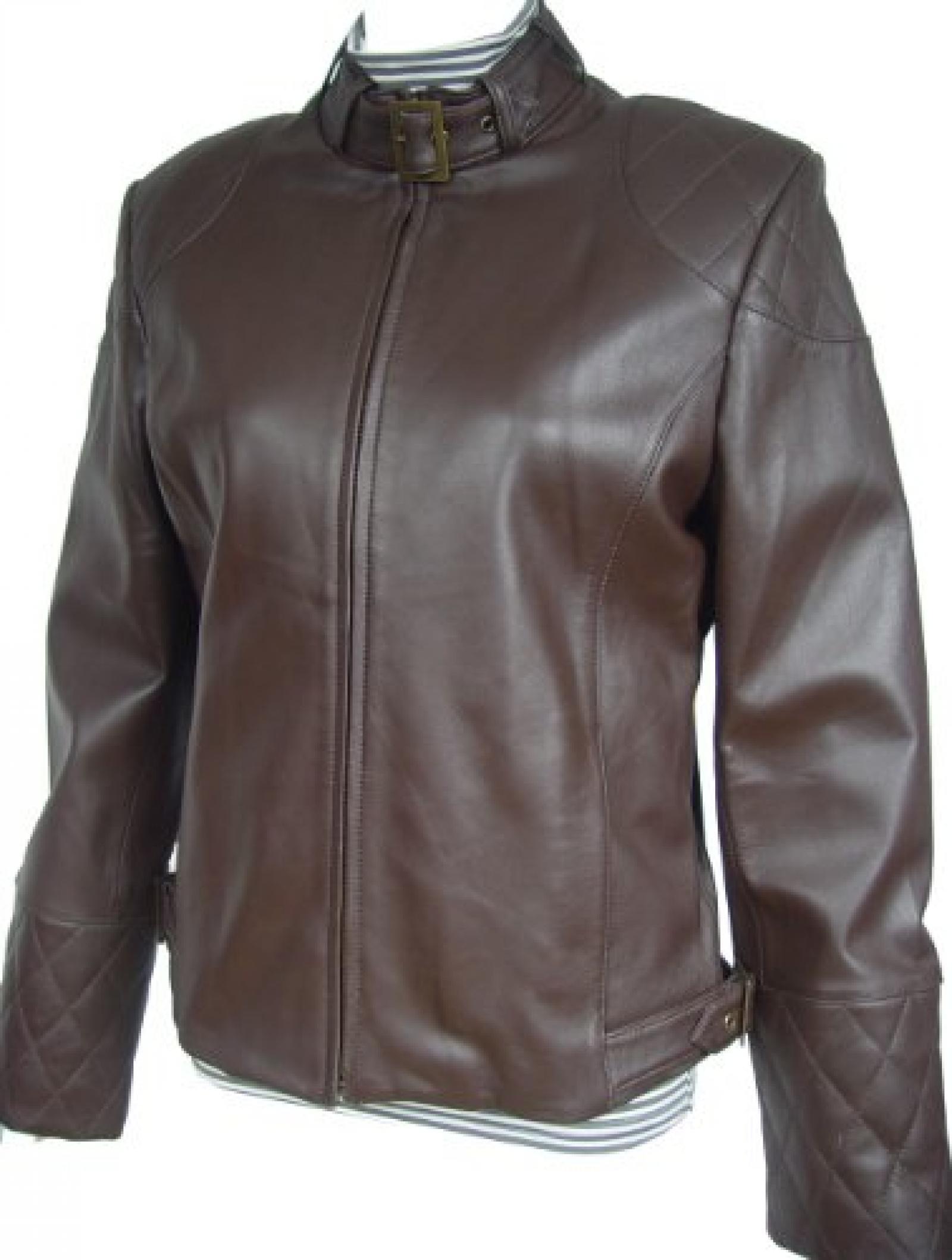 Paccilo FREE tailoring Women 4041 Plus Size Lambskin Biker Leather Jacket