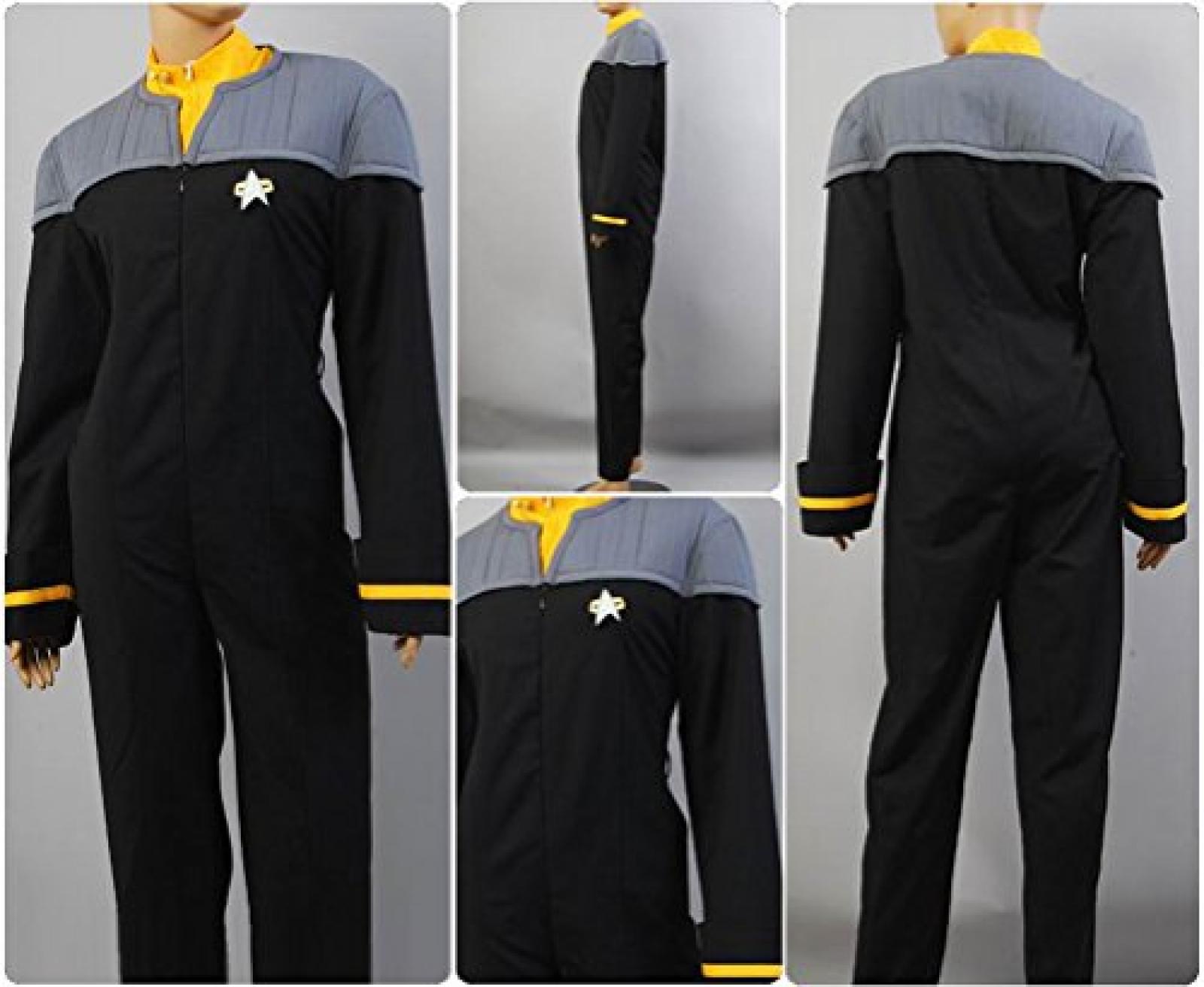 Star Trek Nemesis Engineering Gelb Jumpsuit Cosplay Kostuem