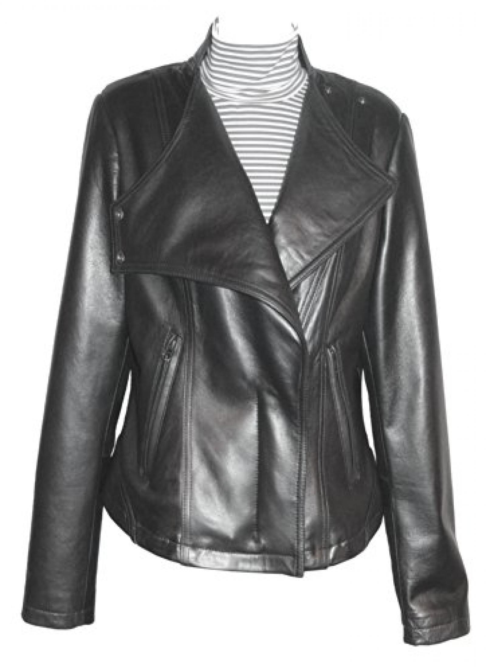Nettailor FREE tailoring Women PETITE SZ 4093 Leather Moto Jacket Stand Collar