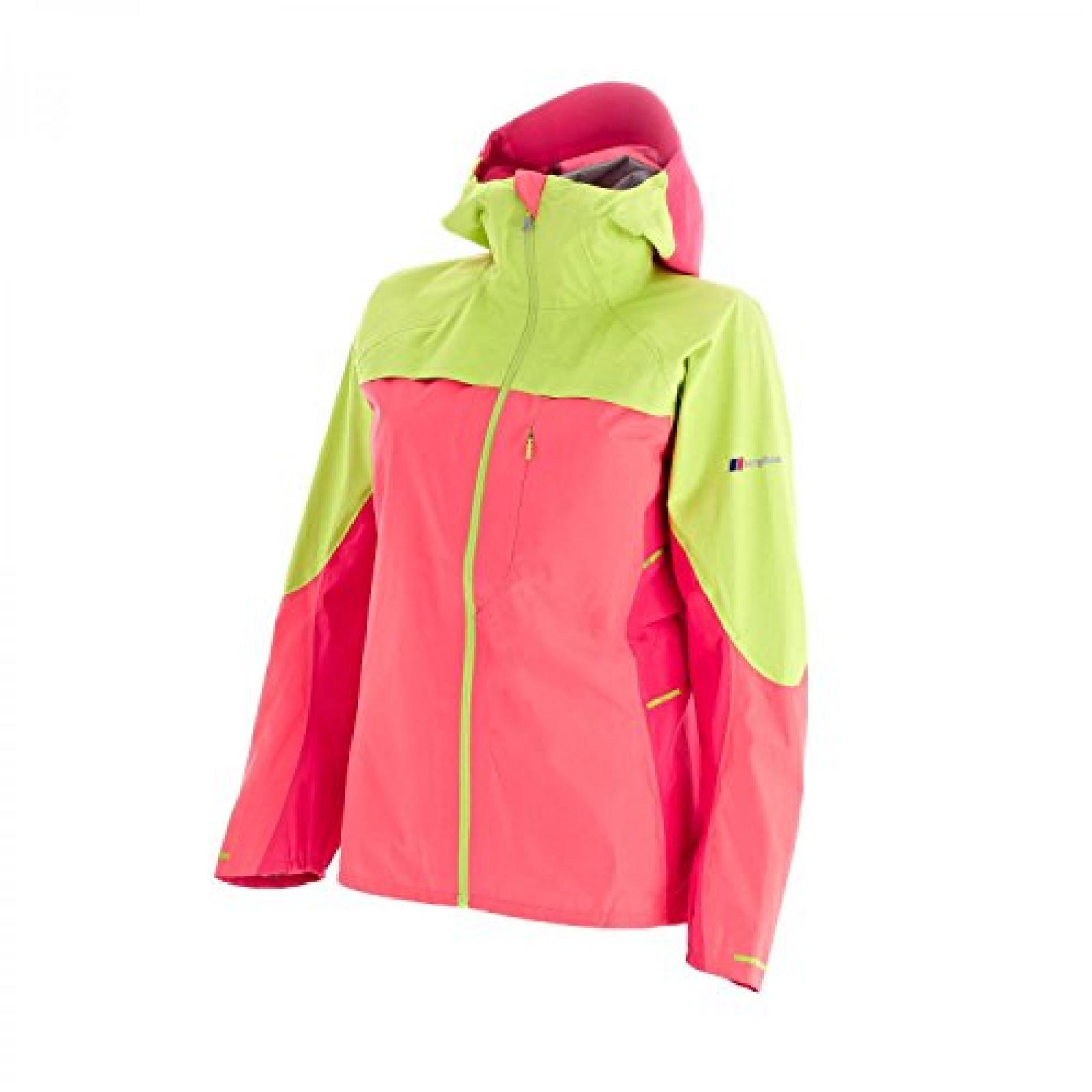 berghaus W Vapour Storm Jacket dubarry/lime zest/geranium