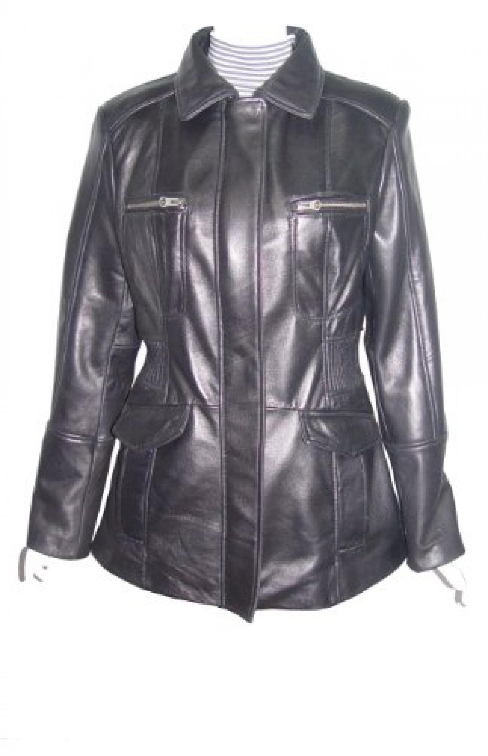Nettailor Women PETITE SZ 4203 Leather Casual Jacket Placket Front Chest Pocket