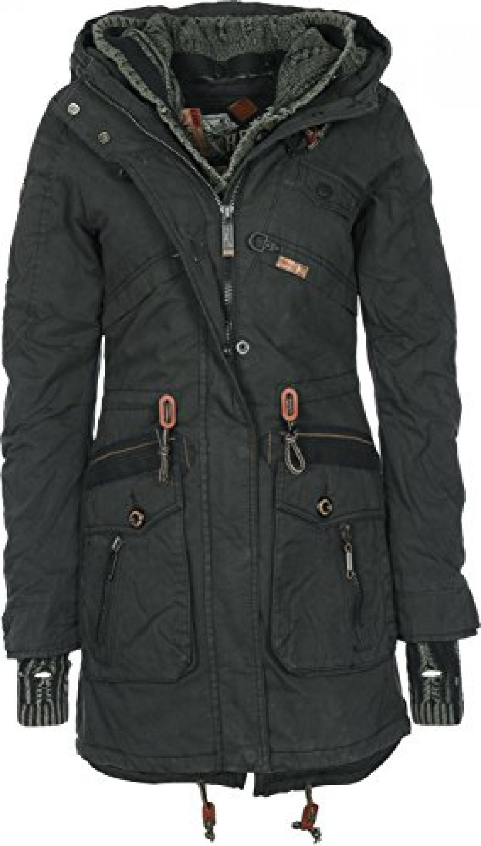 Khujo Parka Women - JEDDA WITH INNER JACKET & CUFFS - Black