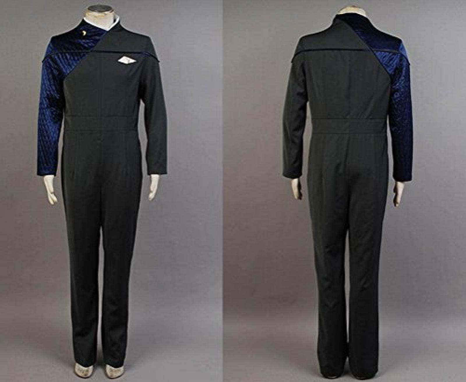 Star Trek: Voyager Relativity Starfleet 29th Century Command Cosplay Uniform Dunkel Blau