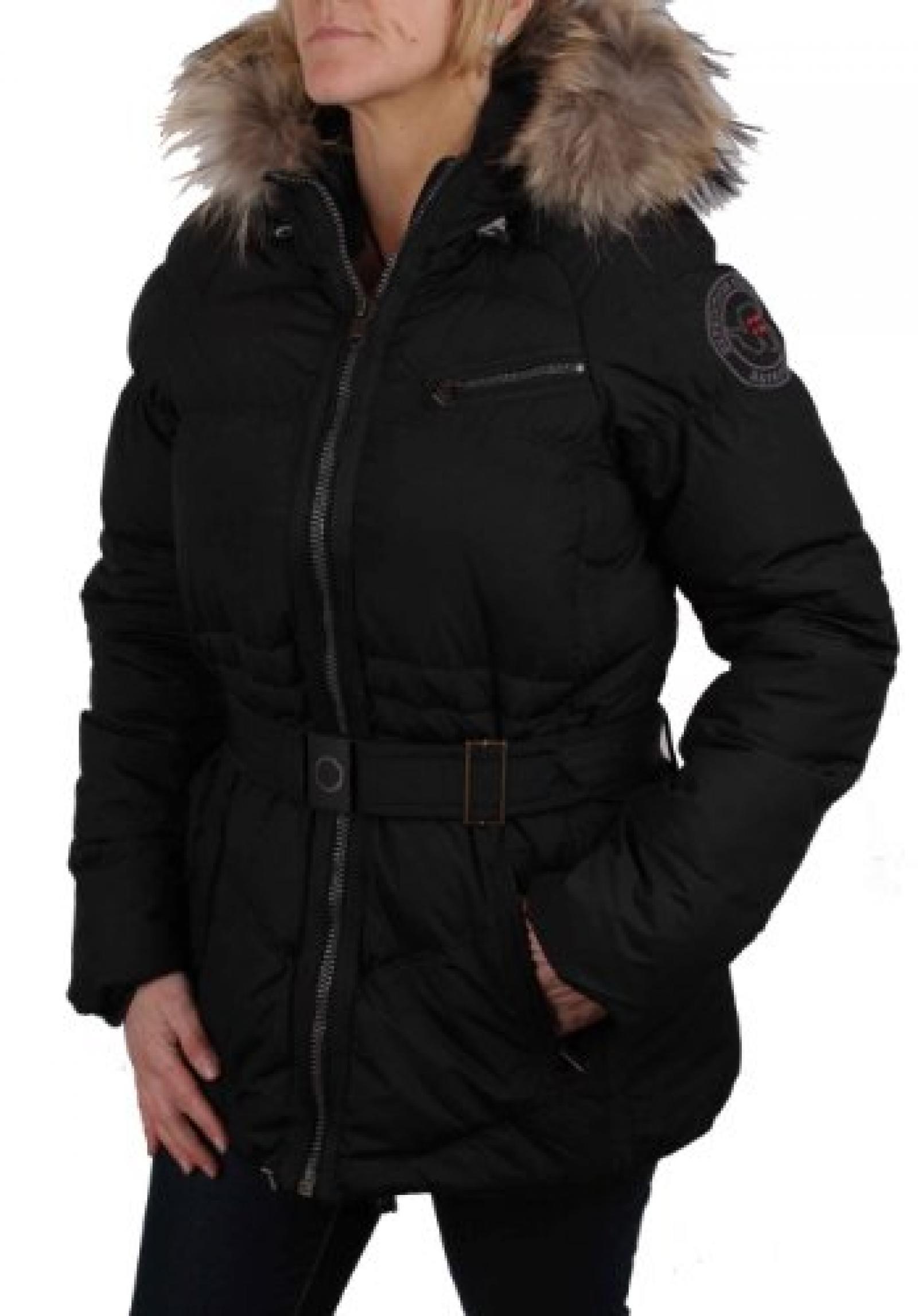 Napapijri Damen Jacke Mantel Parka Daunen Schwarz Gr. L #RIF020