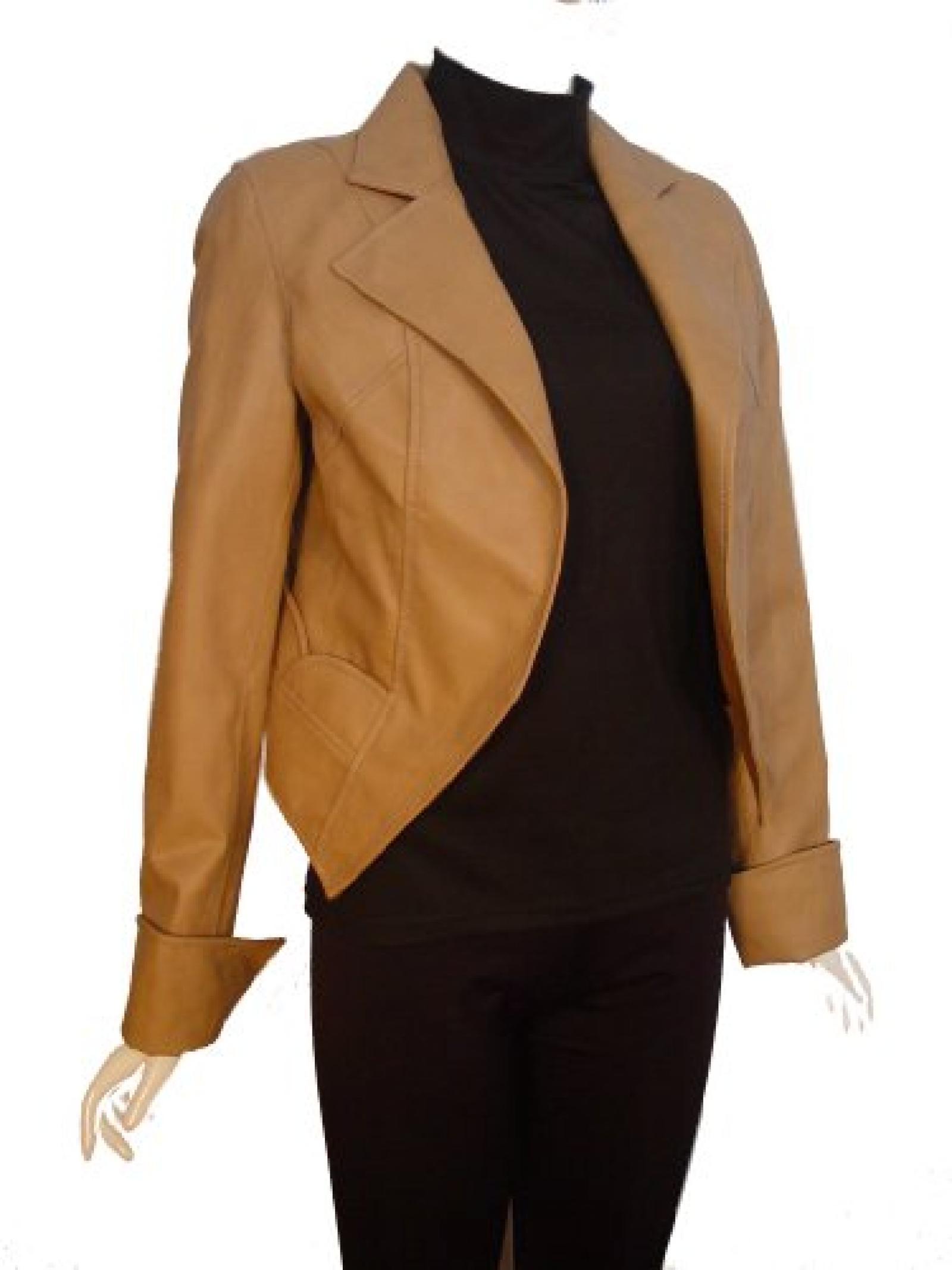 Nettailor FREE tailoring Women PLUS SIZE 4072 Leather Bolero Jacket