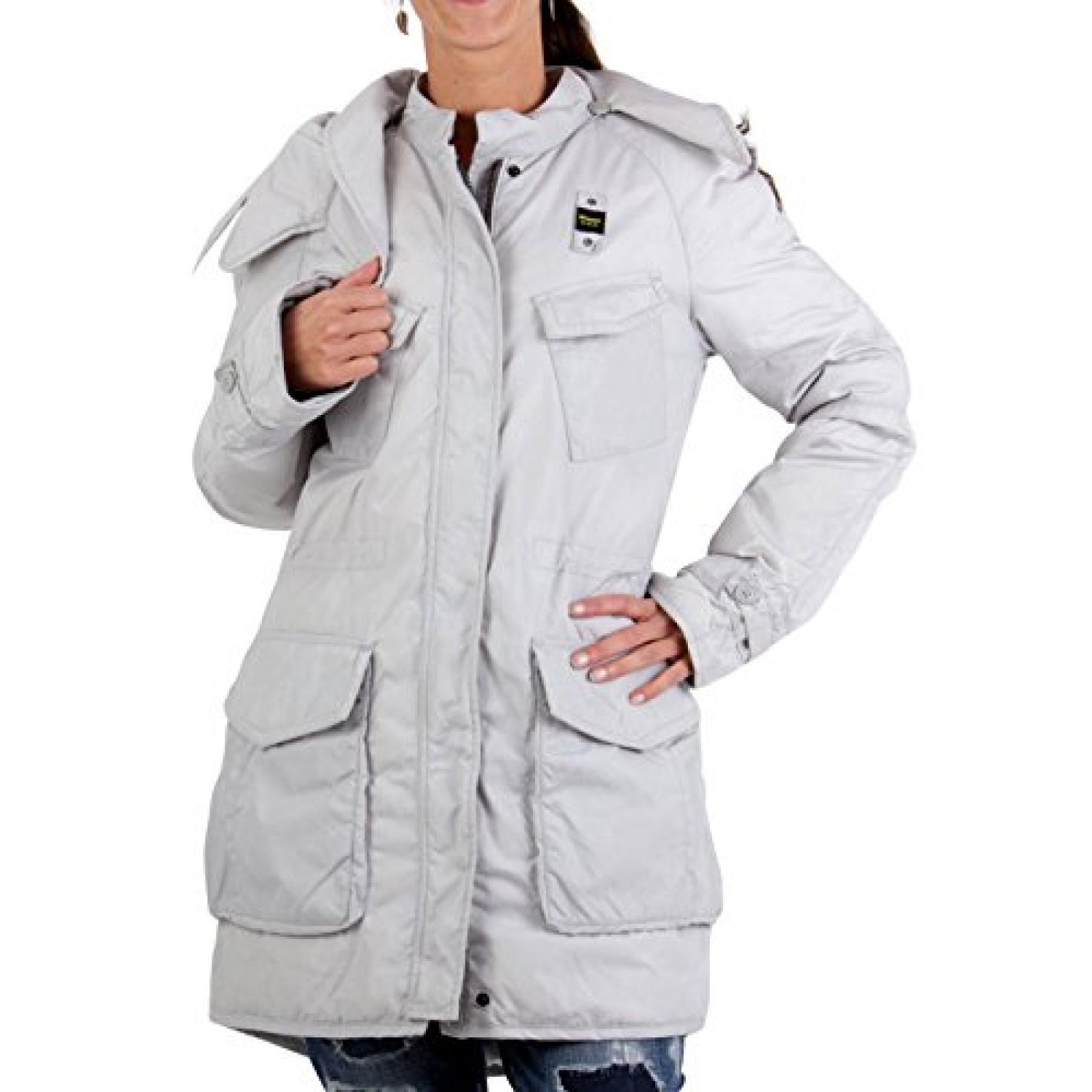 BLAUER USA Damen Winter Daunenparka Light Grey BLD0331 2. Wahl