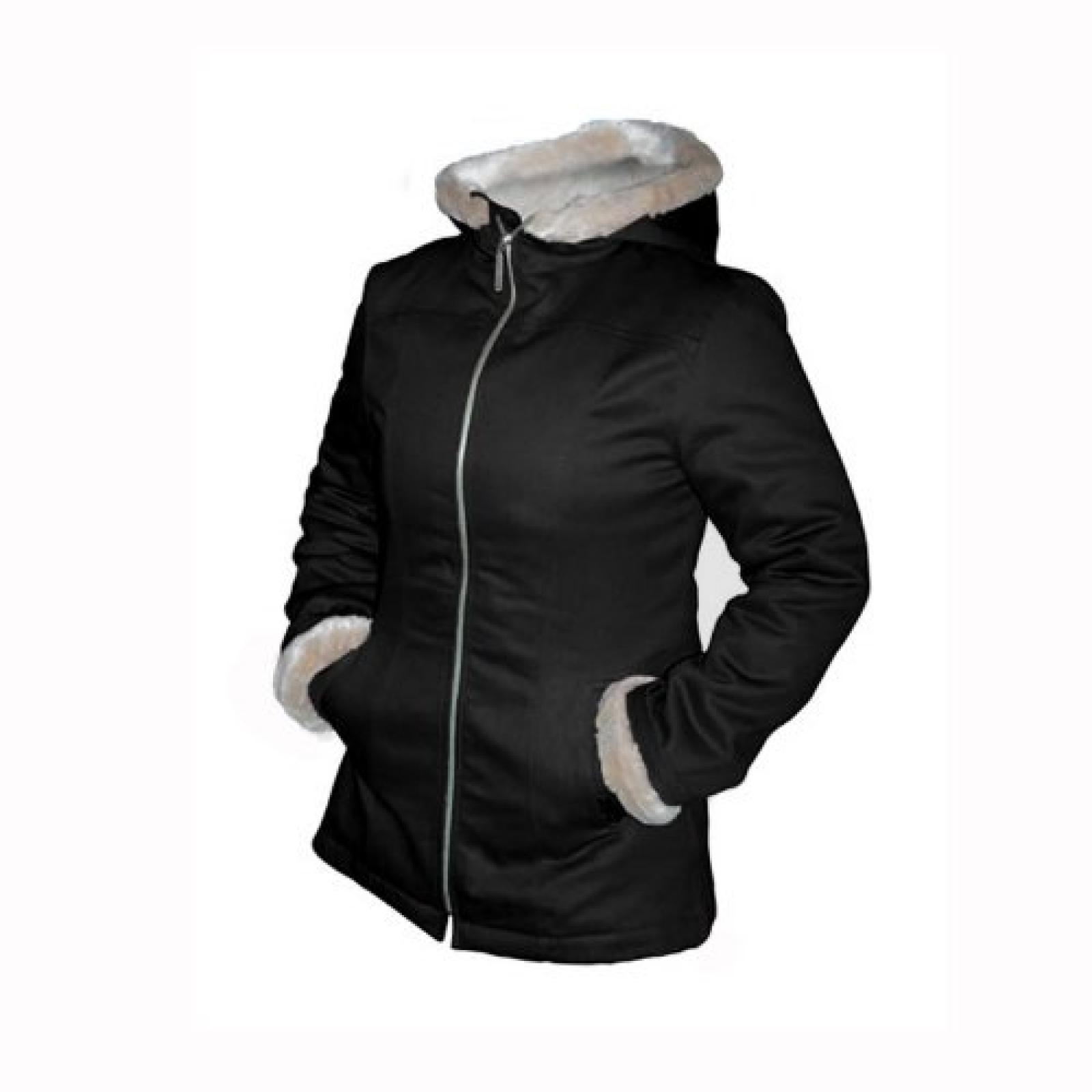 Hemp HoodLamb Damen Winterjacke, Farbe: Schwarz