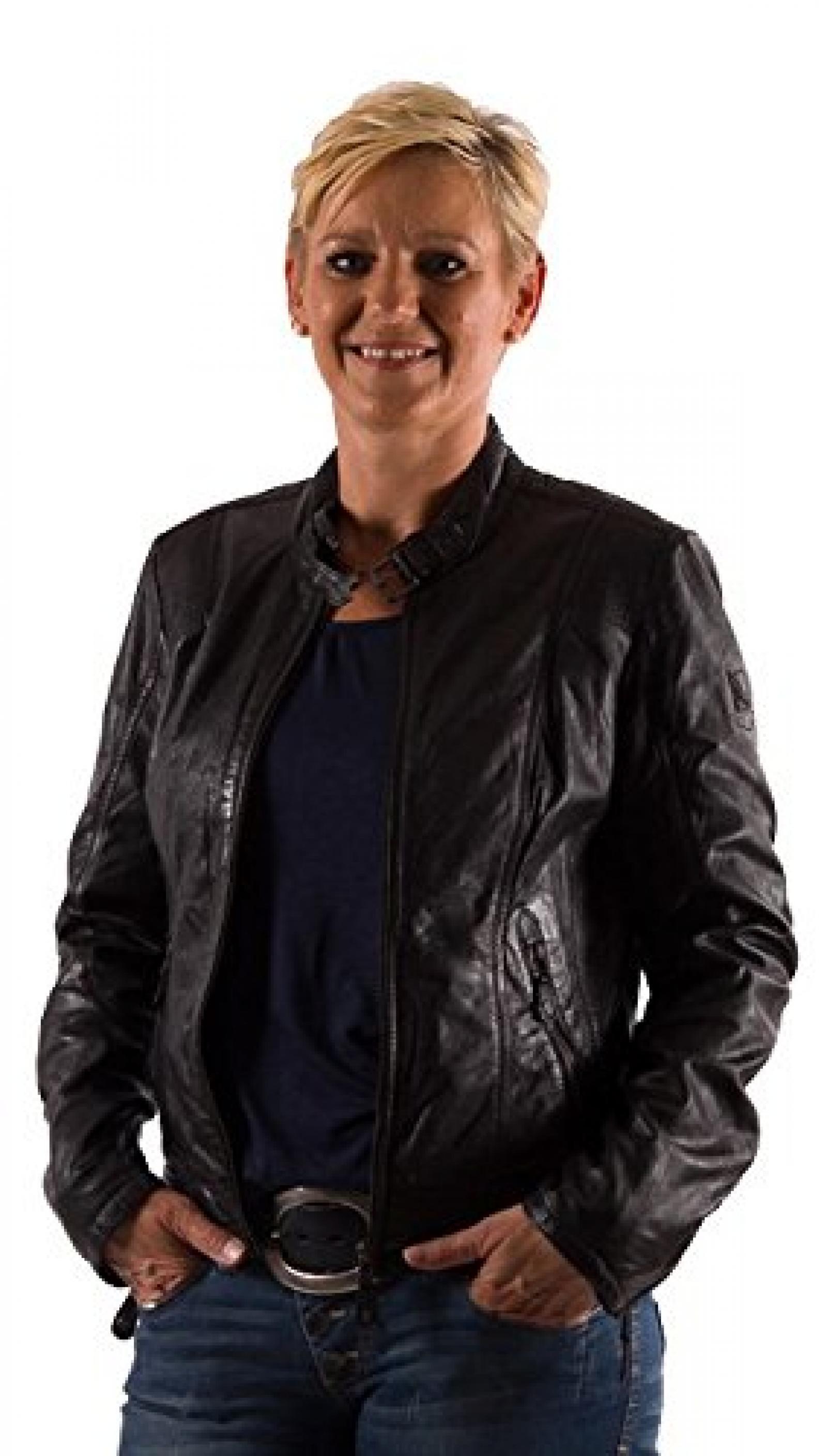 Mauritius Damen Leder Jacke Dyka 2 LARIV, Black