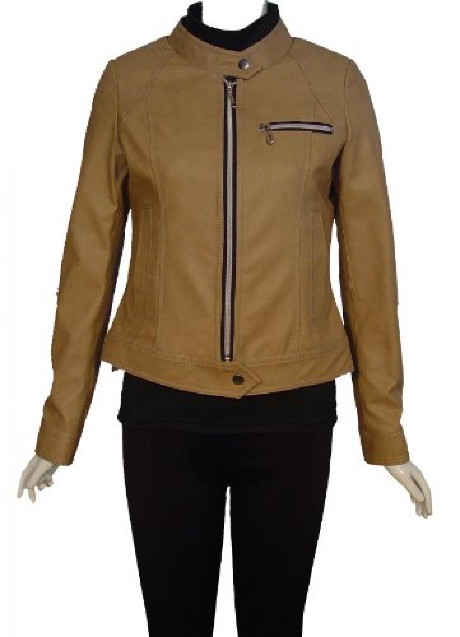 Nettailor Women PLUS SIZE 4063 Lamb Leather Motorcycle Jacket