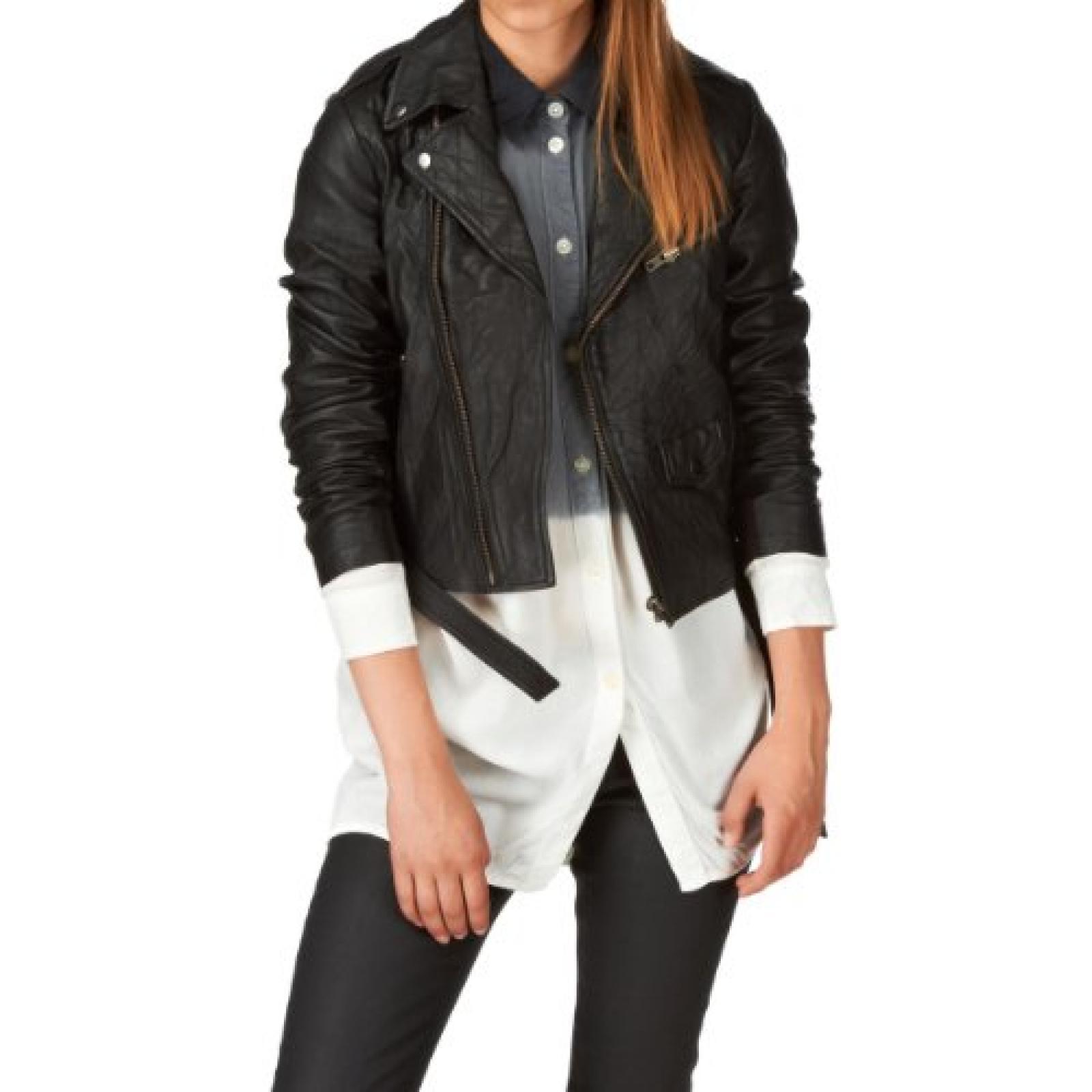 Religion Hooper Leather Jacket - Black