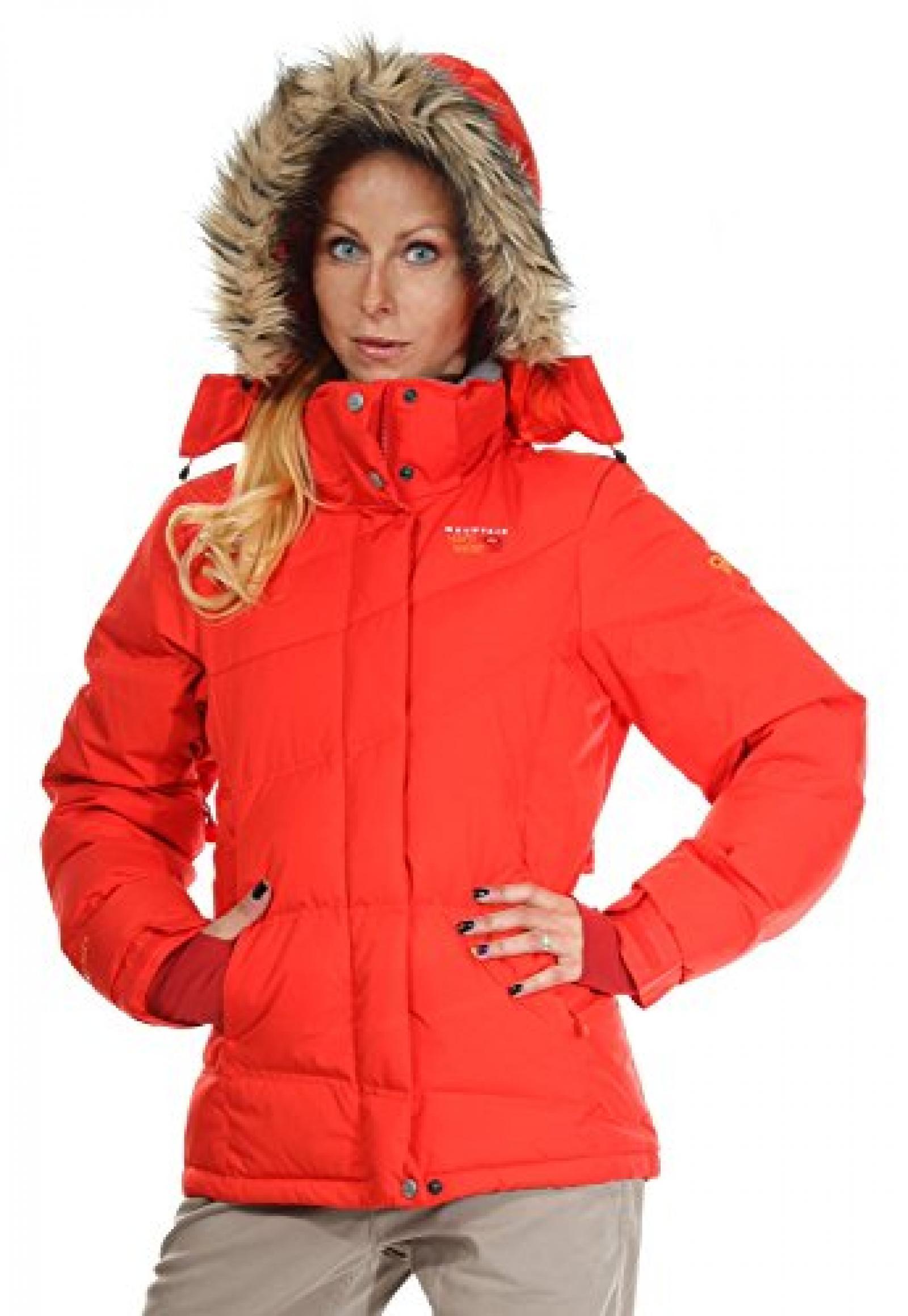 Mountain Hardwear Damen Daunenjacke Rot Downhill Ski Parka 1017830