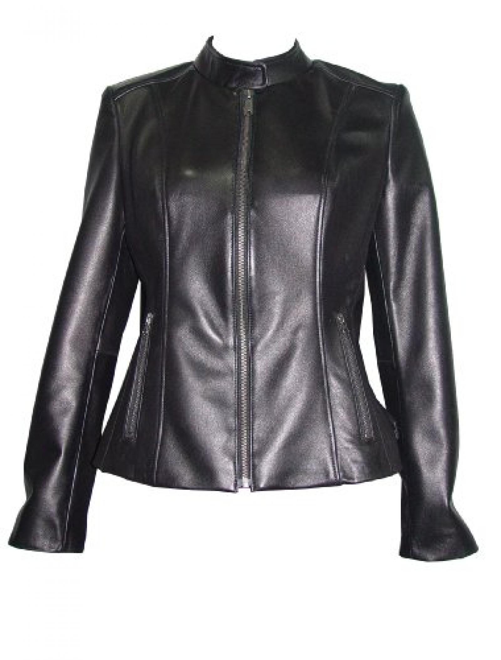 Nettailor Women PLUS SIZE 4062 Lamb Leather Motorcycle biker Jacket