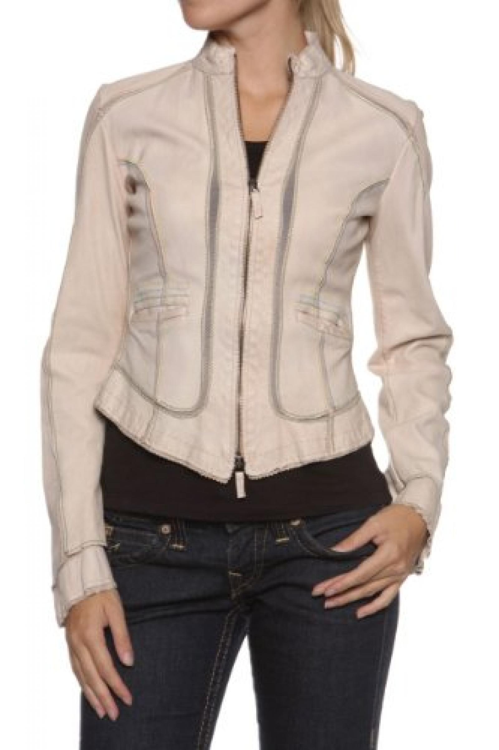 Paolo Sperotto Damen Jacke Lederjacke MARIE, Farbe: Beige