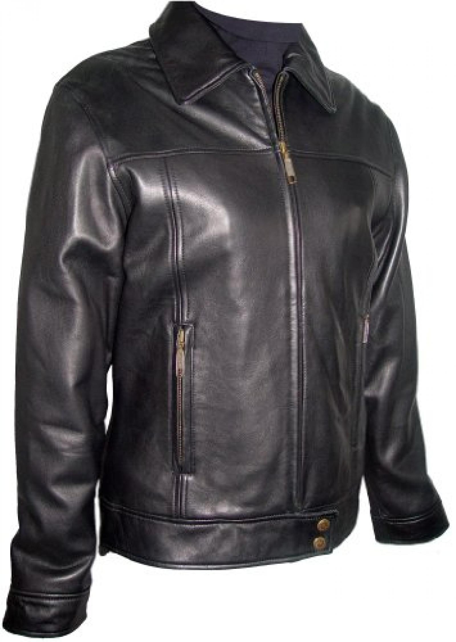 Paccilo FREE tailoring Womens 4027 Plus Size Leather Casual Motorcycle Jacket