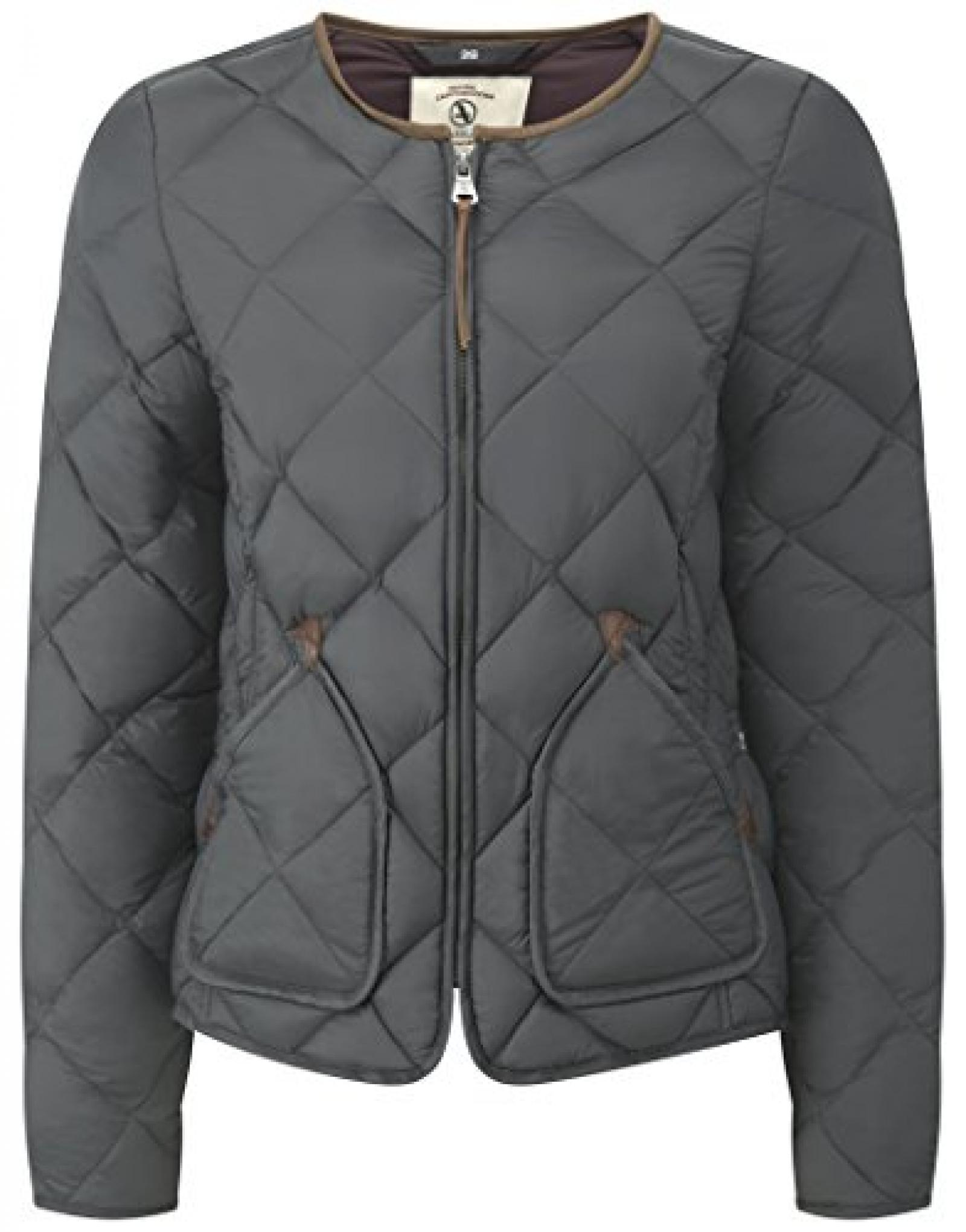 Aigle Ladies Downstar Quilted Jacket - Smoke