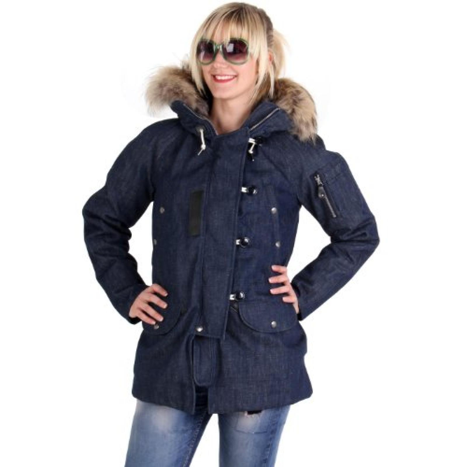 MUSEUM Damen Winter Daunenjacke Jeans Blau MD19453