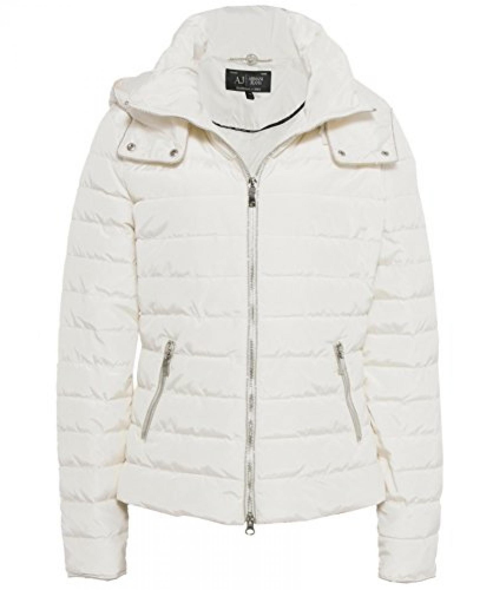 Armani Jeans Hooded Puffa Jacket WEIß