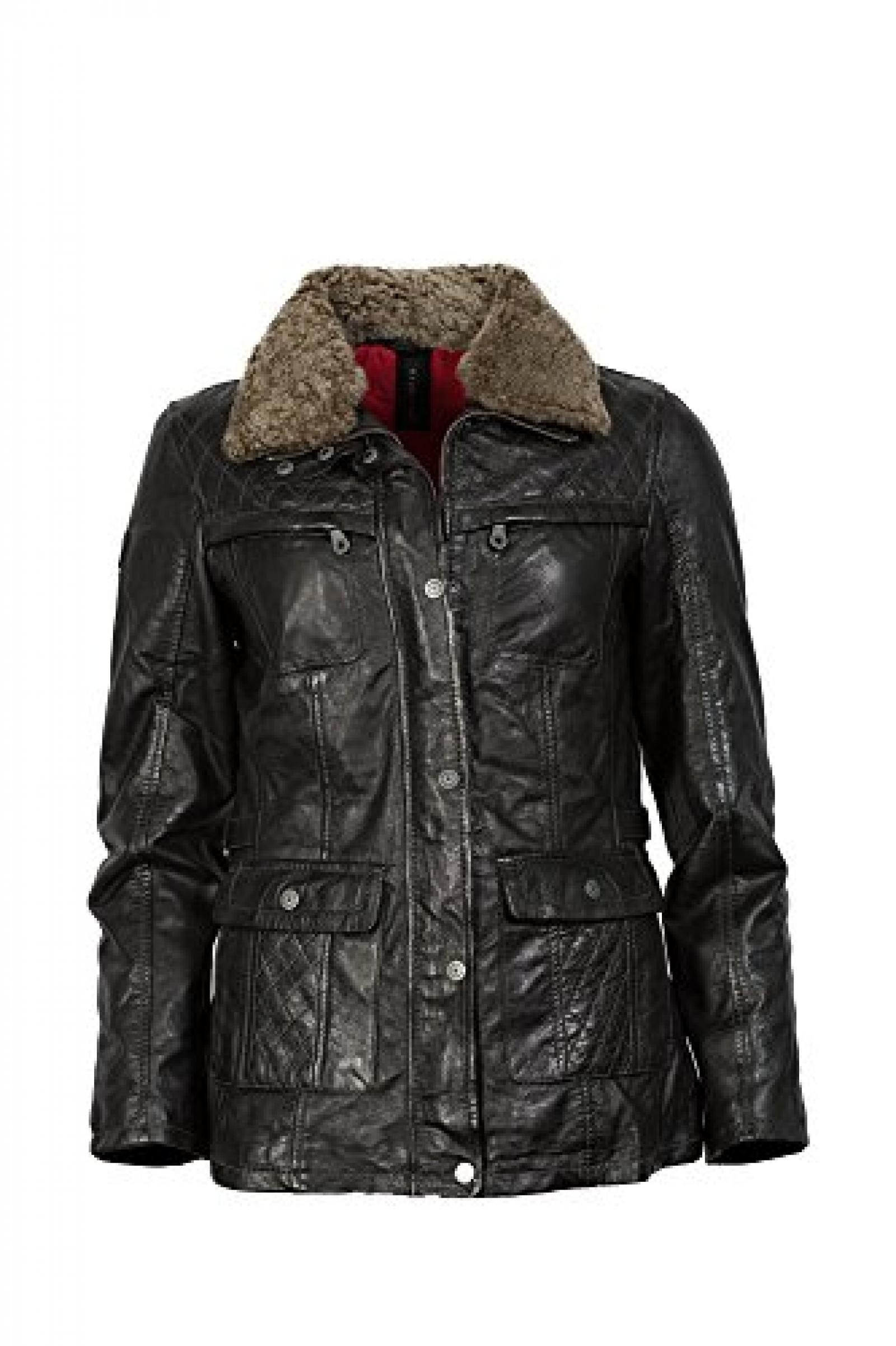 Stilvolle Lederjacke schwarz vom Lifestylelabel Mauritius!