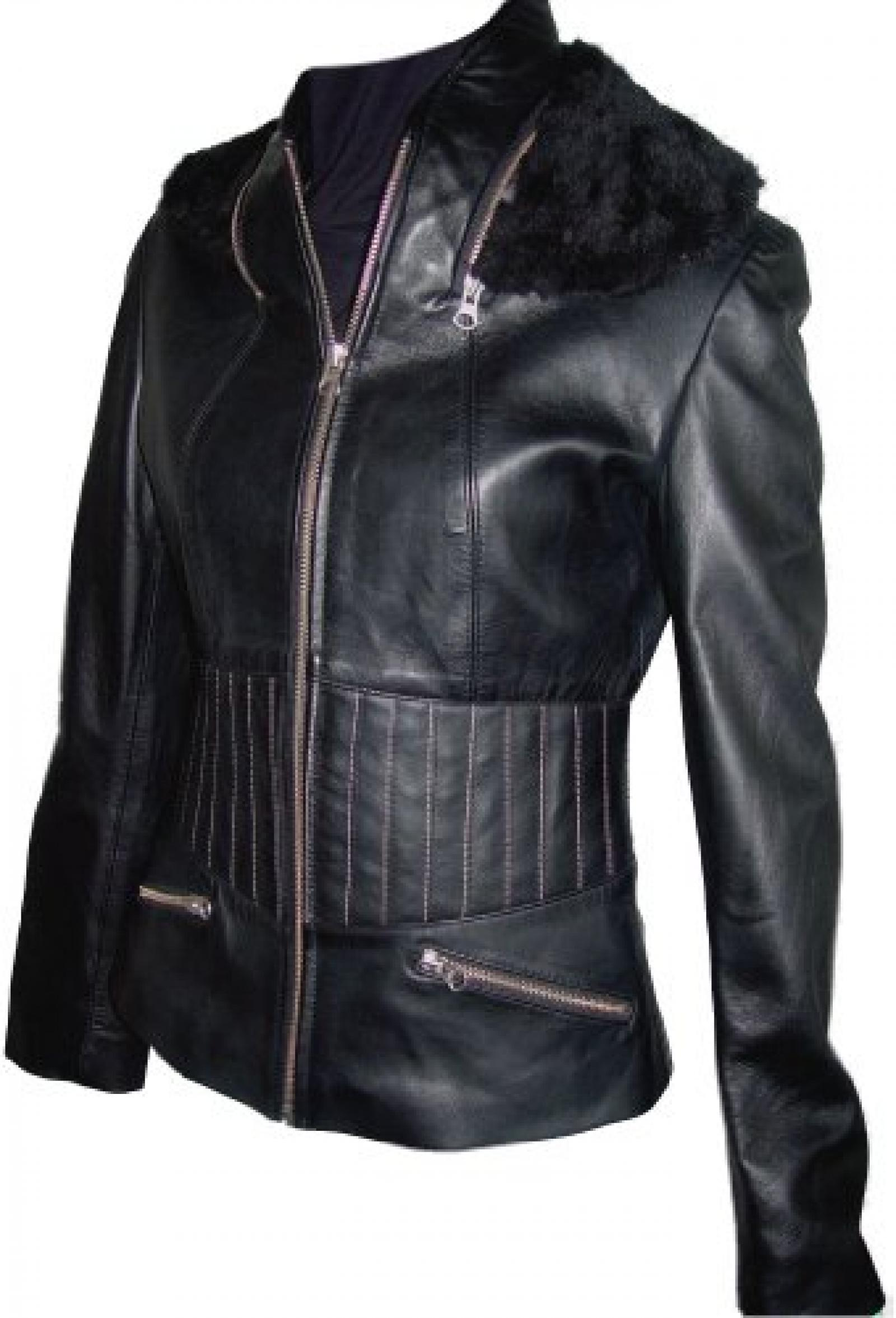 Paccilo FREE tailoring Womens 4031 Plus Size Leather Motorcycle Jacket