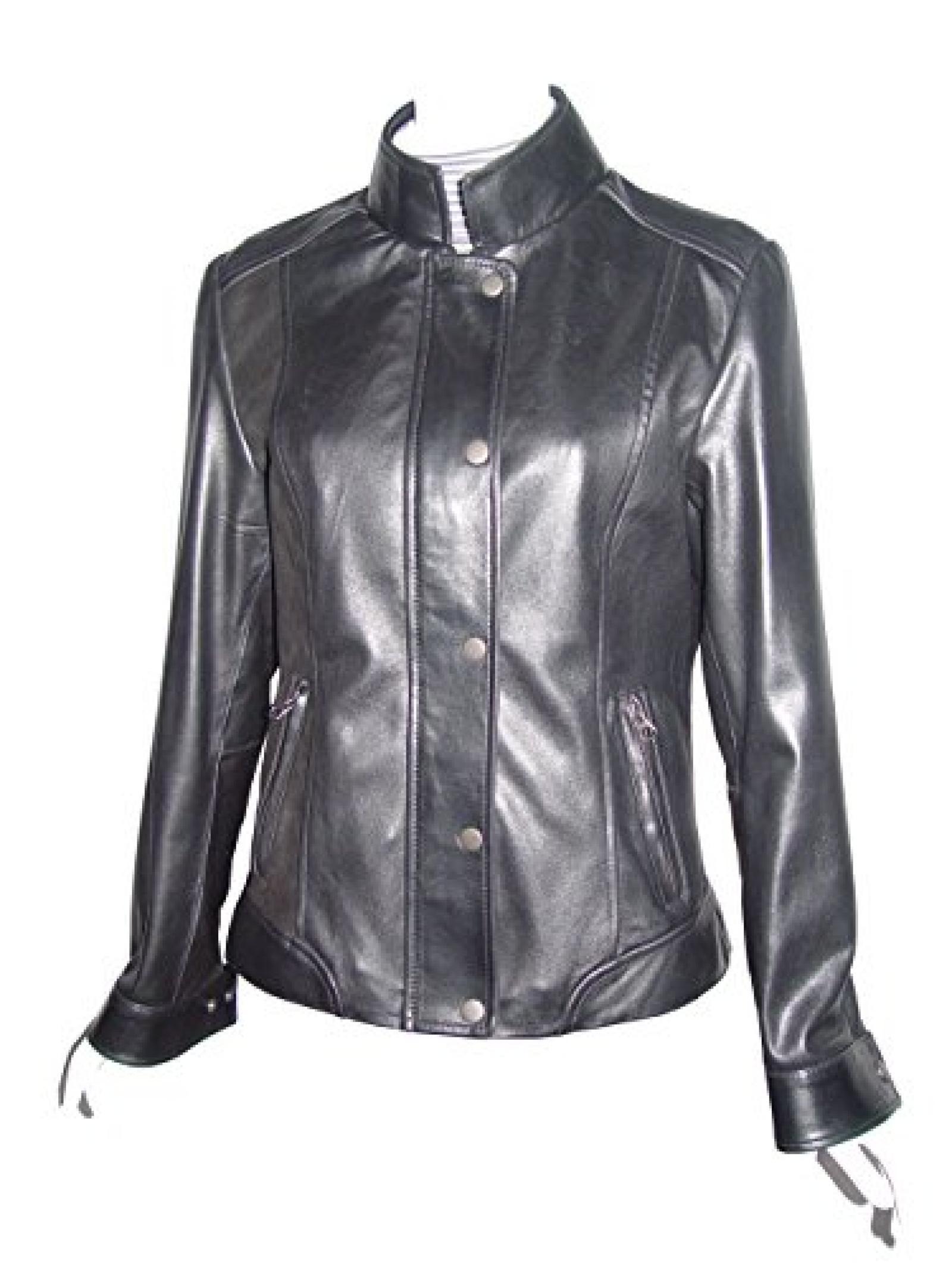 Nettailor Women PLUS SZ 4089 Lambskin Leather Casual Jacket Laydown Collar