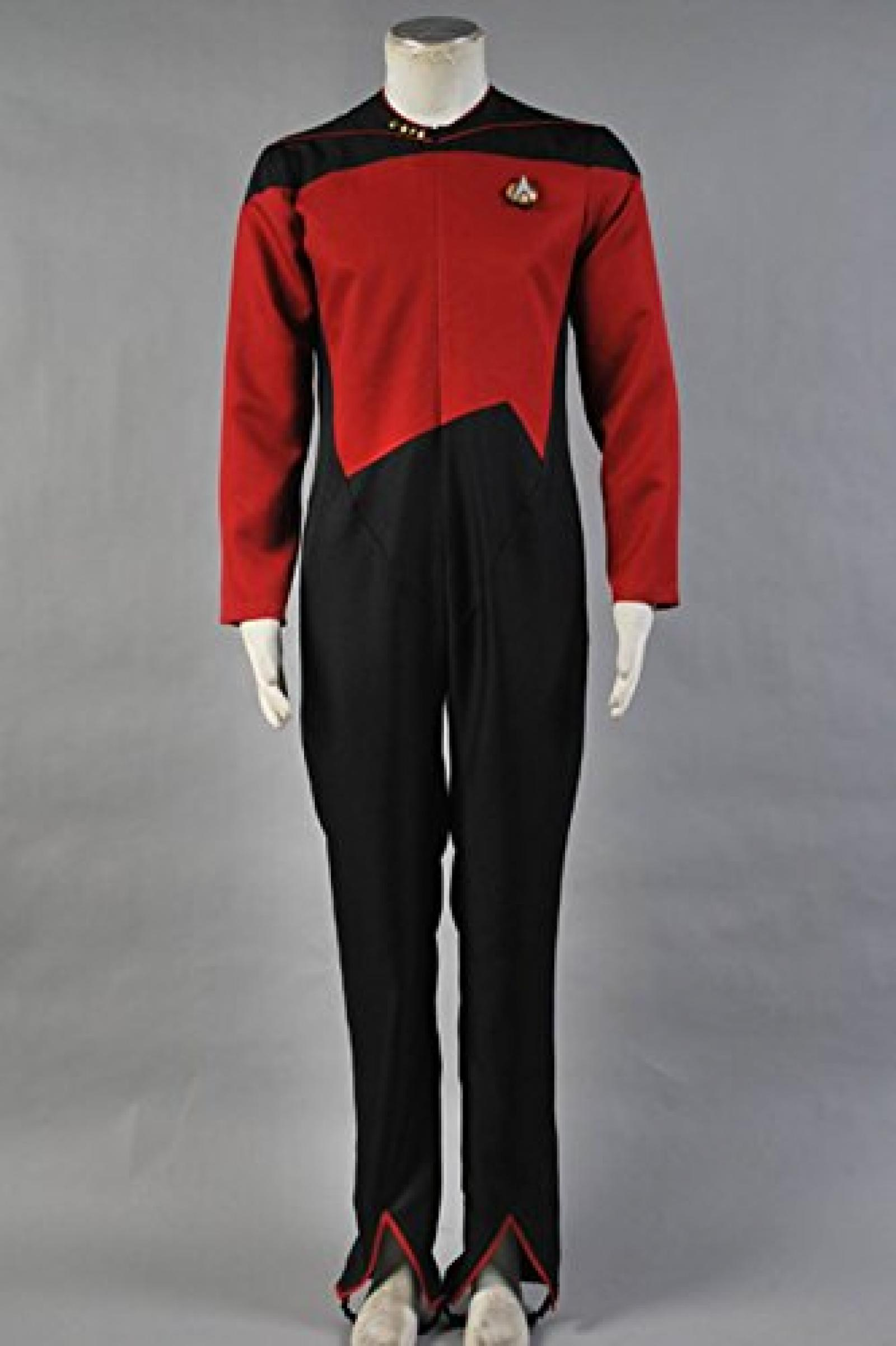 Star Trek Command Uniform Rot Jumpsuit Kostuem