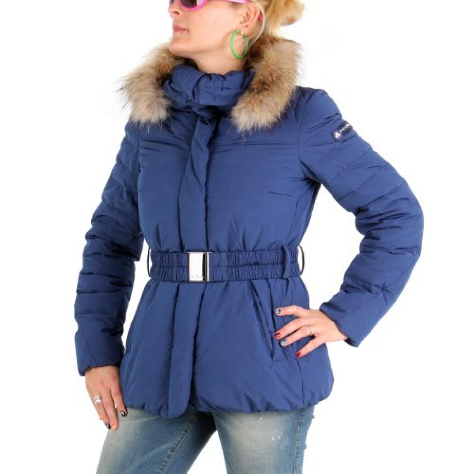 PEUTEREY Damen Winter Daunenjacke Messy Blue 556