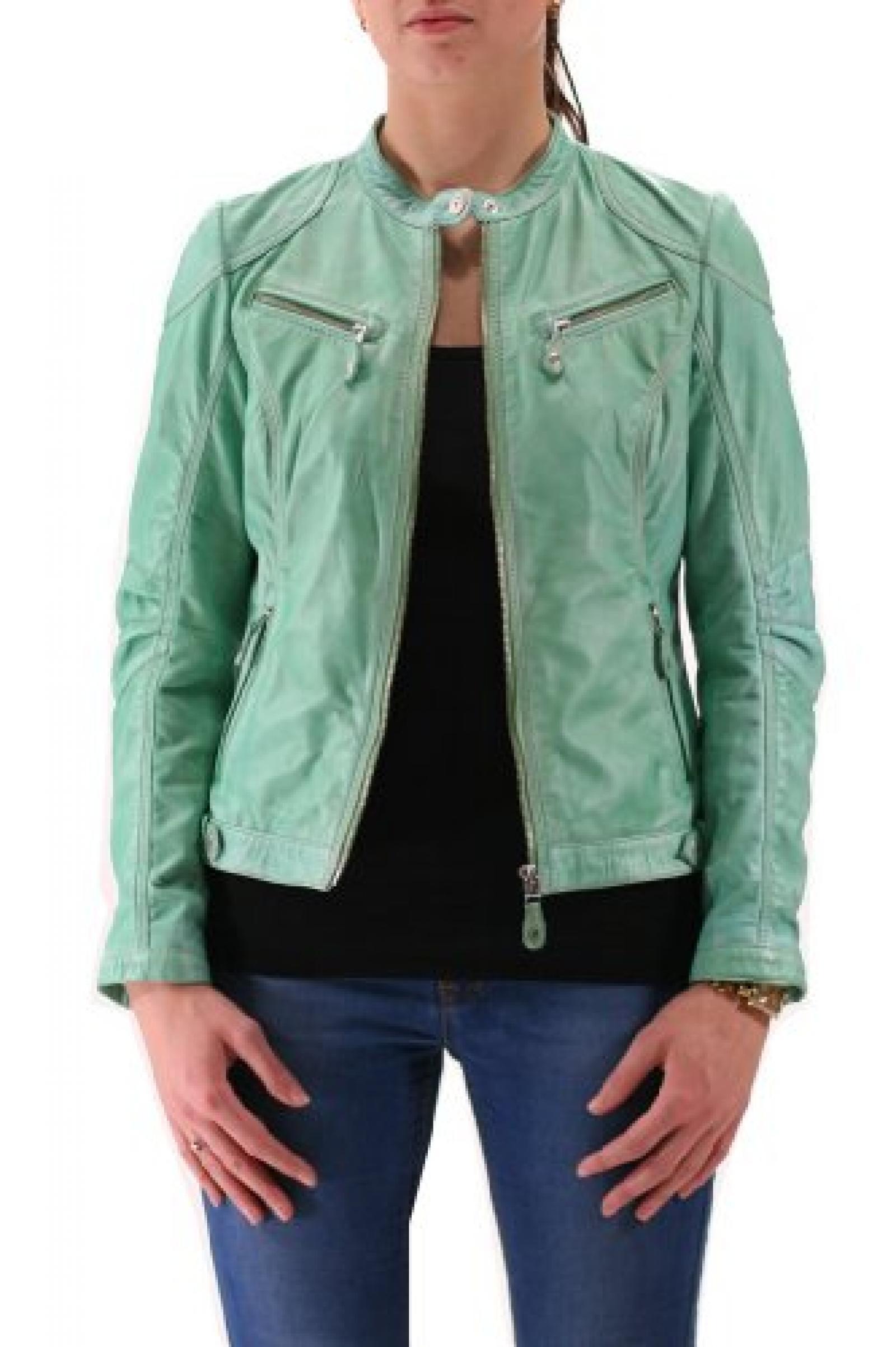 Jayda S14 LNAP Light Green Mauritius Lederjacke, Damen, Outerwear