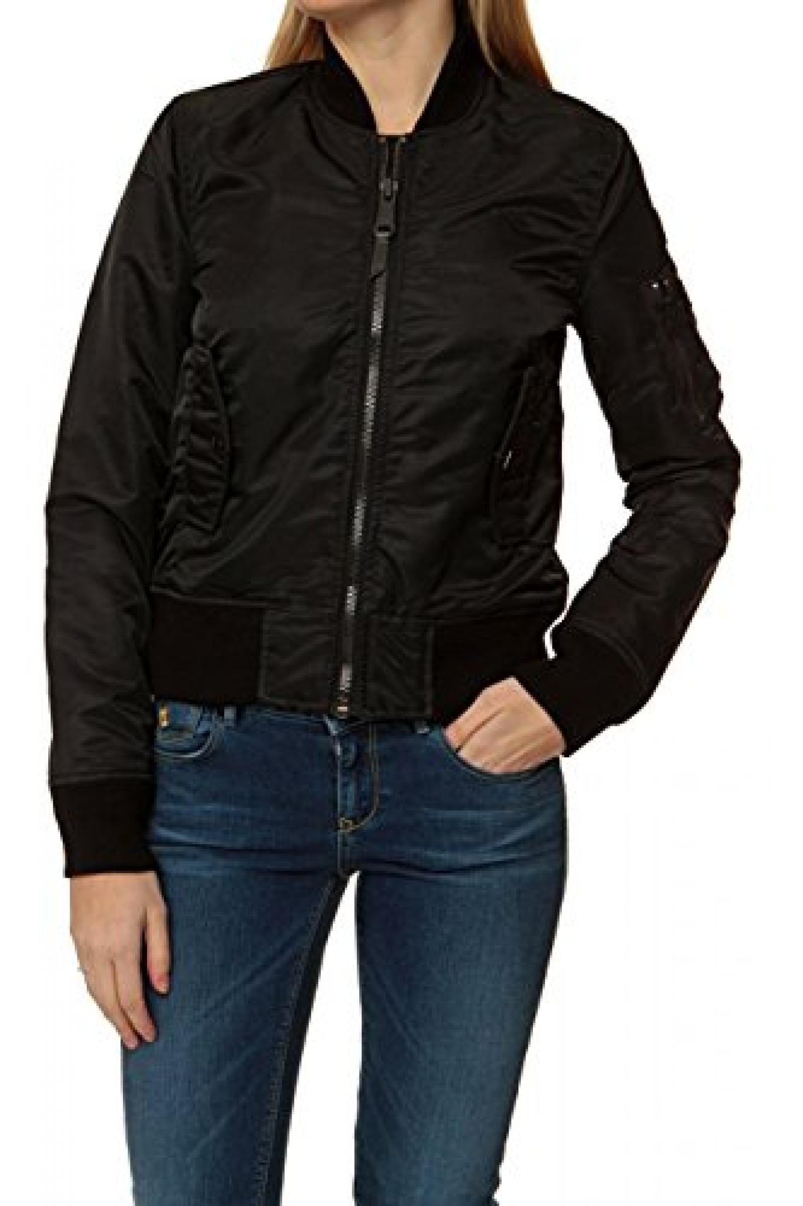 Super Schott Damen Jacke Blouson-Jacke , Farbe: Schwarz B00R8R26E6 #HC_45