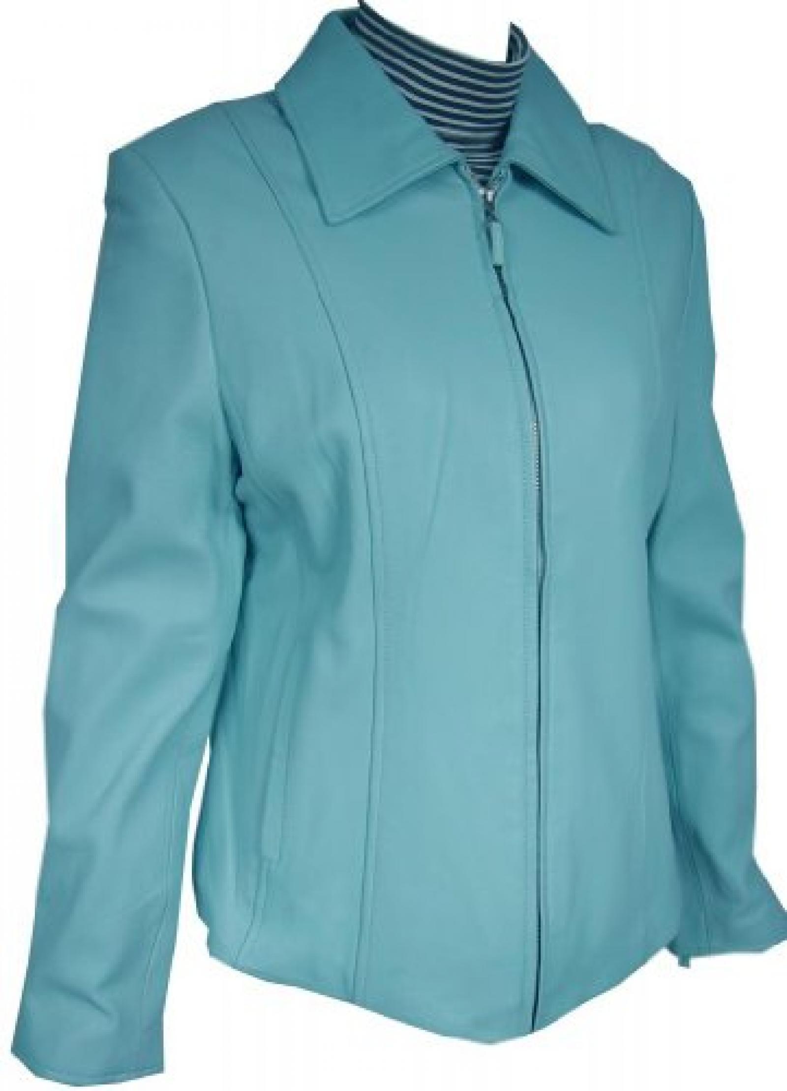 Paccilo FREE tailoring Women 4032 Plus Size Lambskin Leather Scuba Jacket