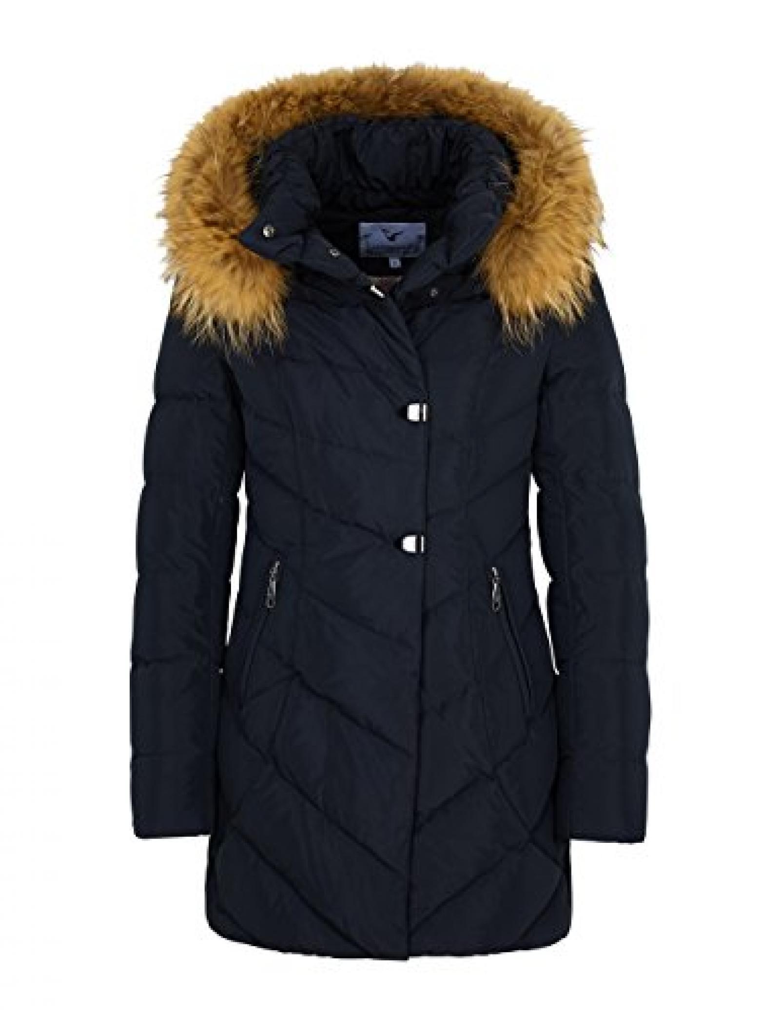W203 Damen Daunenjacke Winterjacke Jacke mit Echtfell Echtfellkapuze schwarz HERBST/WINTER 2015