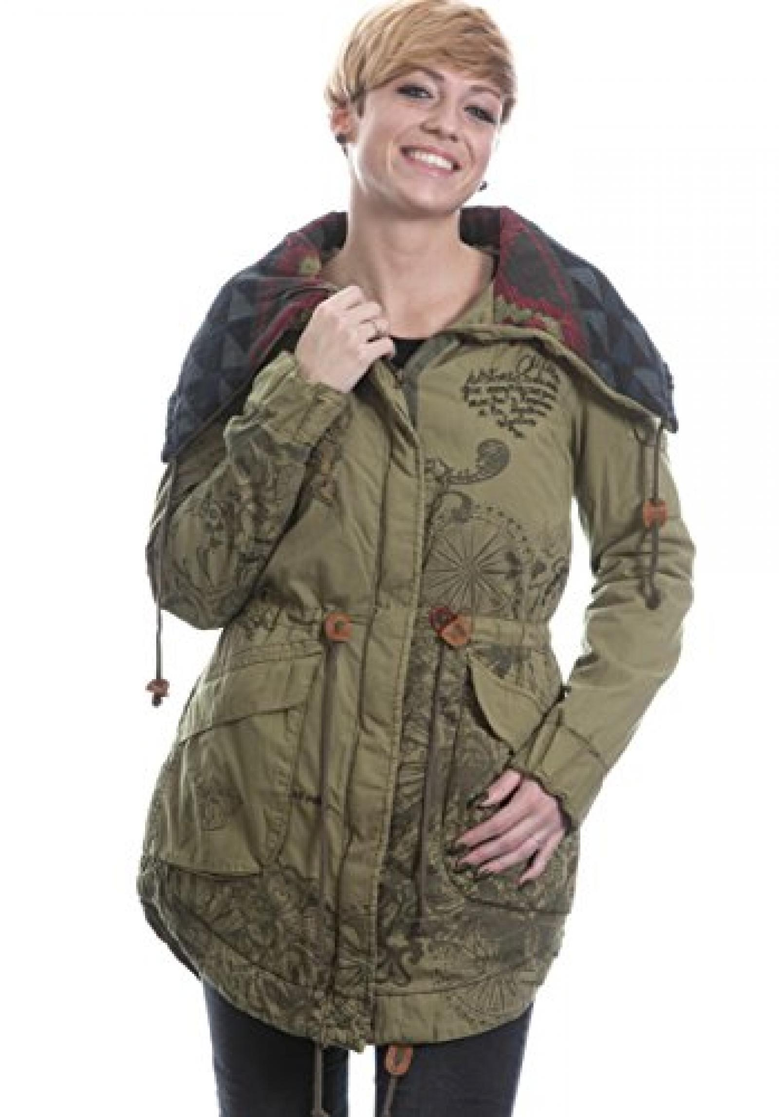 Desigual Abrig Albacette Mantel Jacke olive