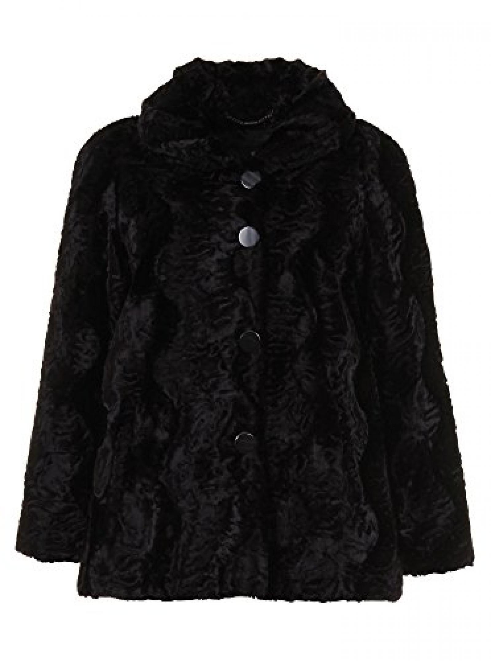 Baronia - Damen - schwarze Jacke mit Samtglanz