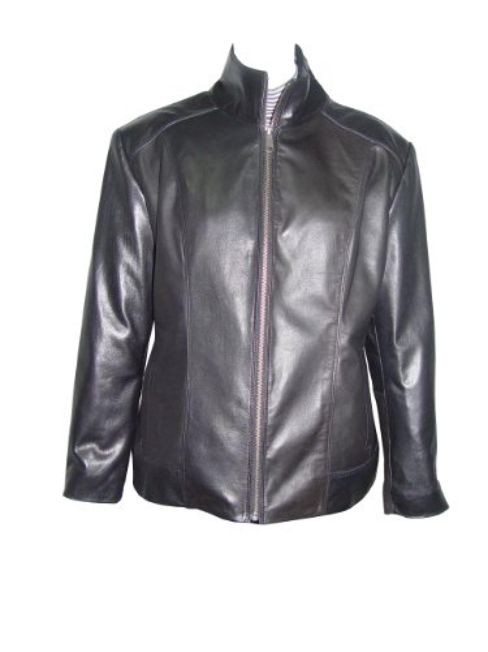 Nettailor Women PETITE SZ 4198 Soft Leather New Casual Biker Jacket