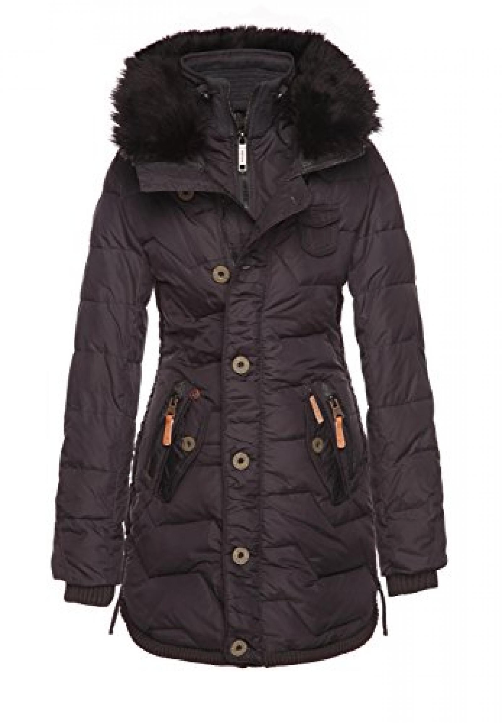 Khujo Damen Wintermantel With Inner Jacket Grey