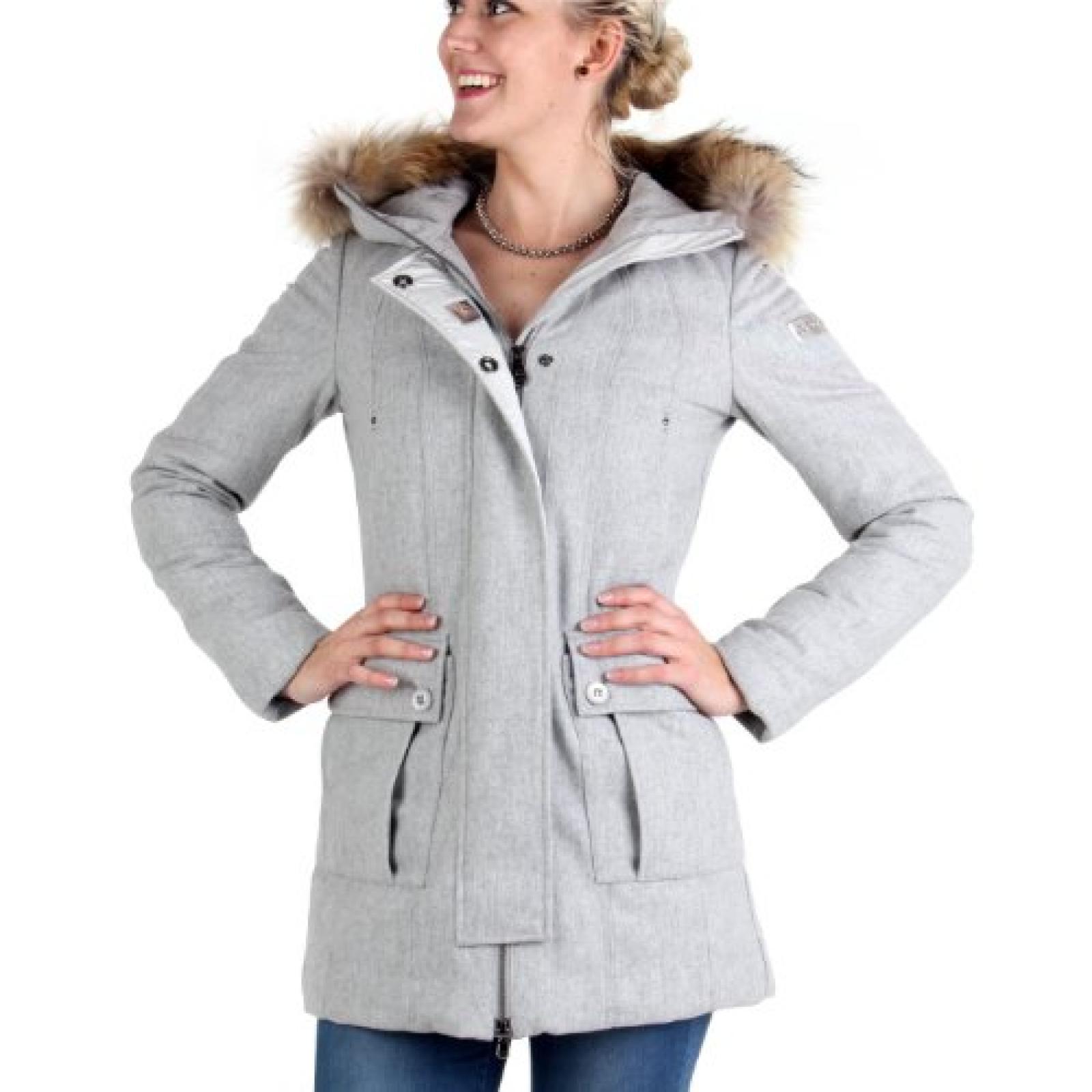 PEUTEREY Damen Winter Daunenjacke Doll Grey 558
