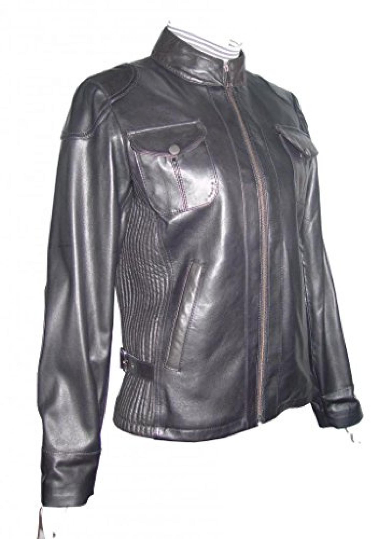 Paccilo FREE tailoring Women 4047 Plus Size Lambskin Leather Motorcycle Jacket
