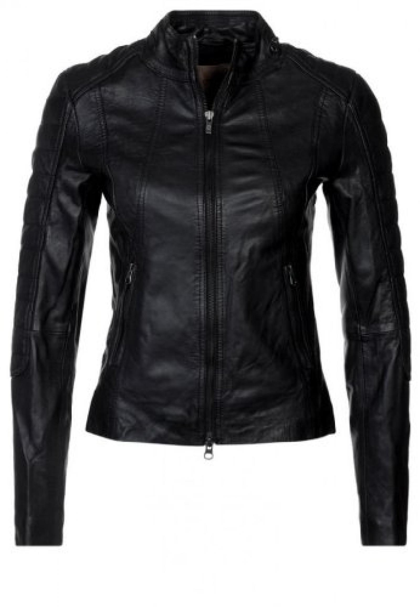 DashX schwarz Damen Lederjacke