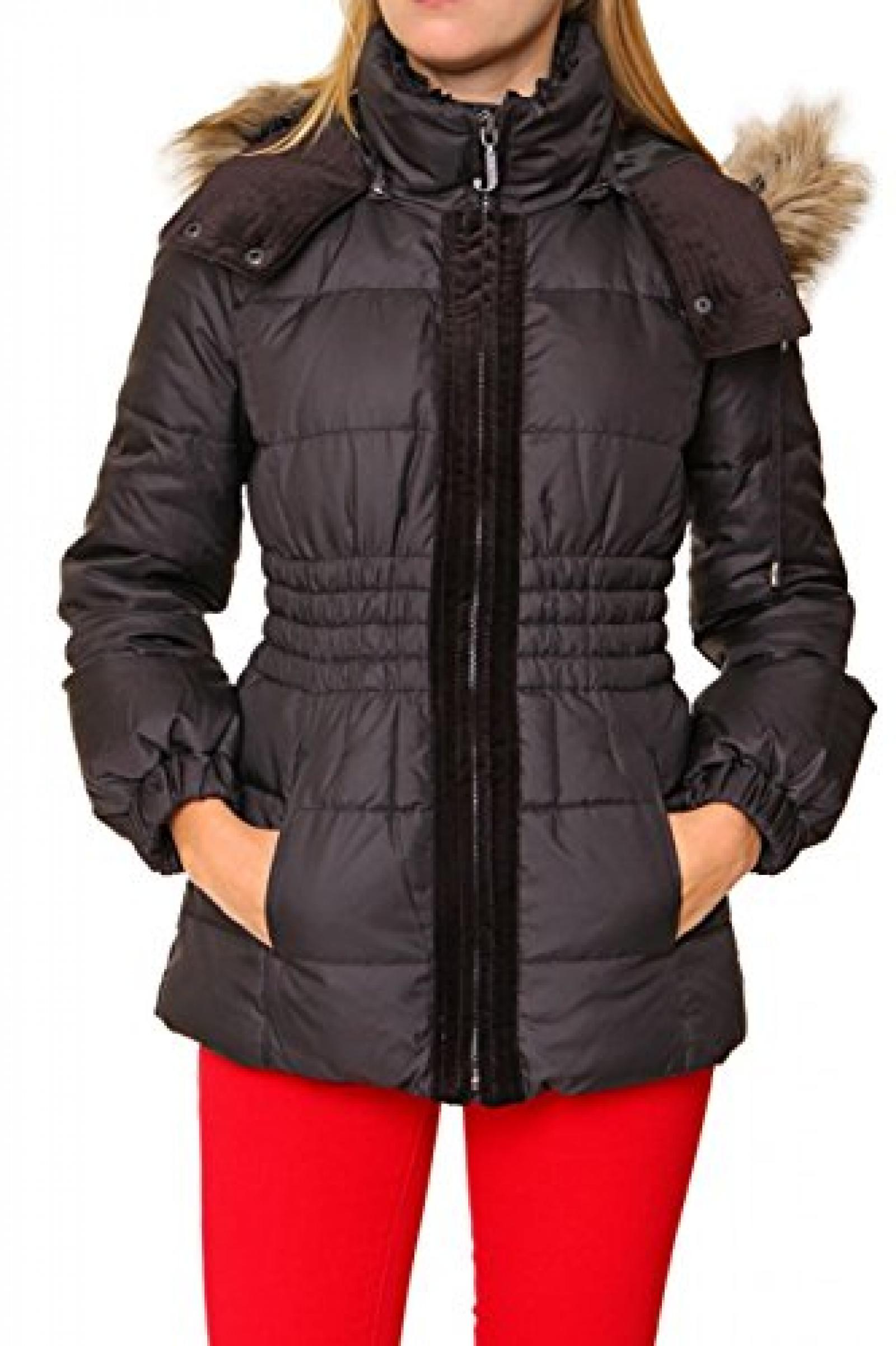 Juicy Couture Damen Jacke Winterjacke HD DIAMOND PUFFA, Farbe: Schwarz