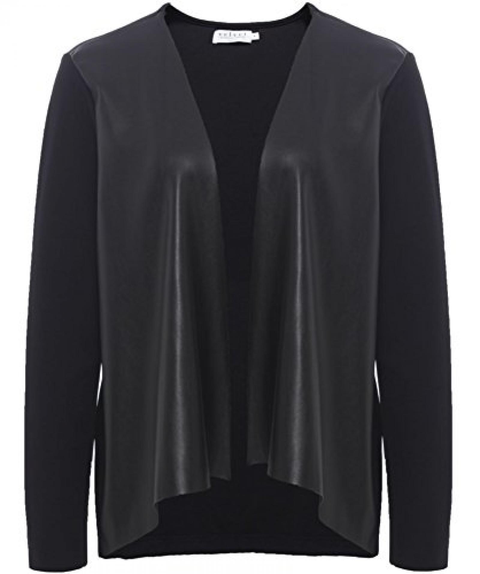 Velvet Candy Leather Ponti Jacket Schwarz