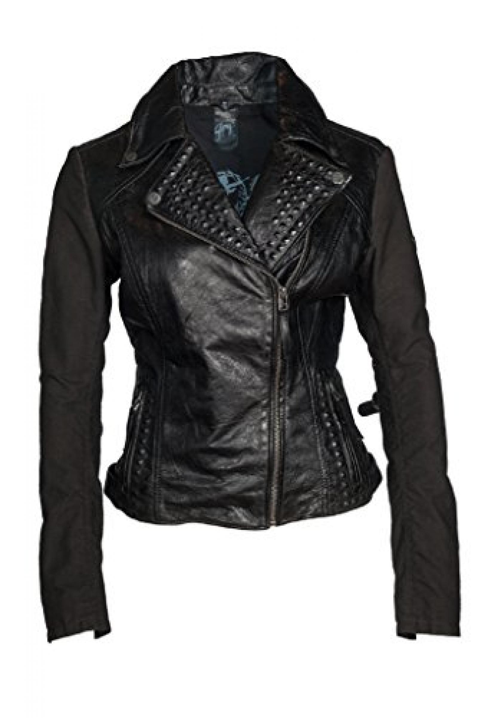 Marcella Black Gipsy Lederjacke, Damen, Outerwear
