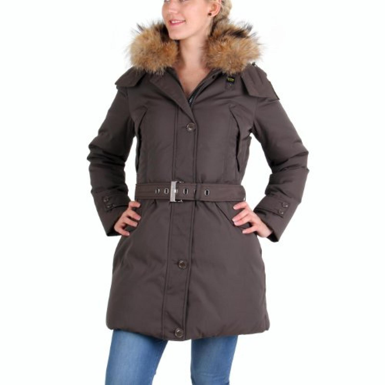 BLAUER USA Damen Winter Daunenparka Braun BLD0308