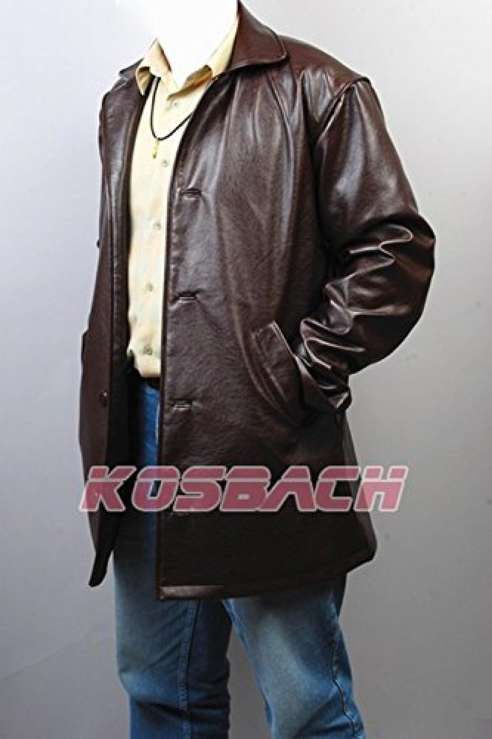 Supernatural Dean Winchester Pleather Jacke Coat Cosplay Kostuem