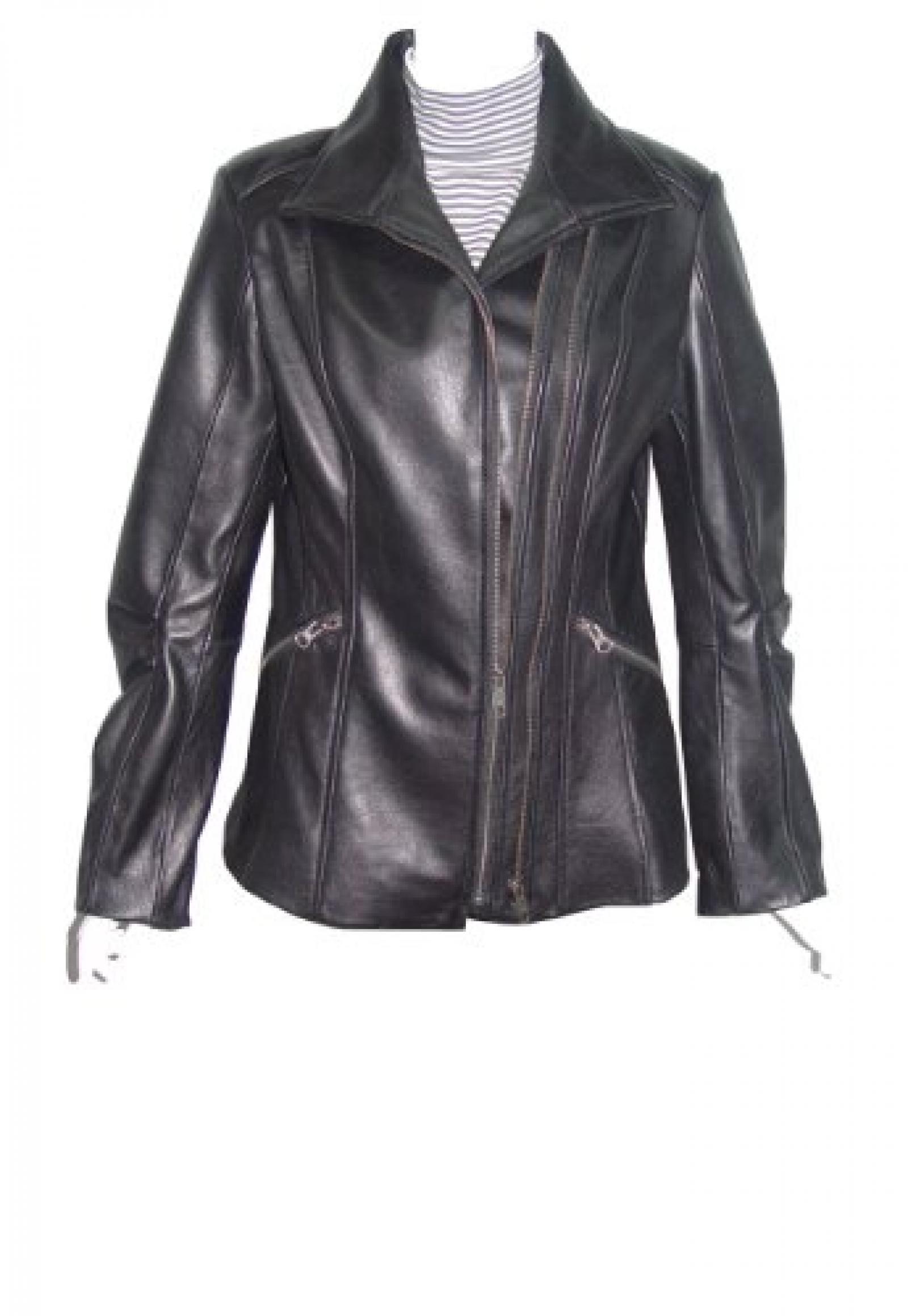 Nettailor Women PETITE SZ 4196 soft Leather Casual Jacket Double Zipped Pocket