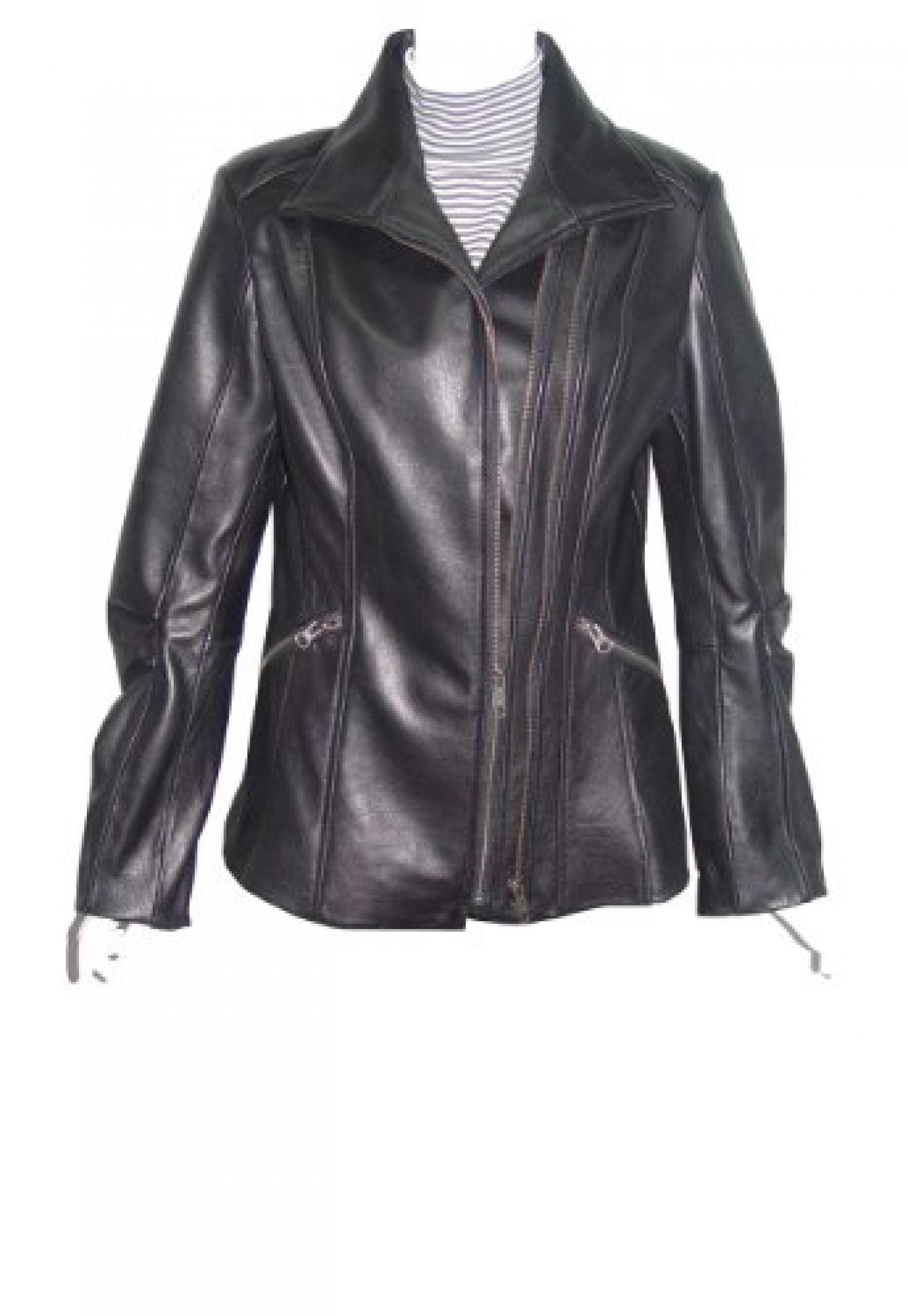 Nettailor Women PLUS SIZE 4196 soft Leather Casual Jacket Double Zip Front