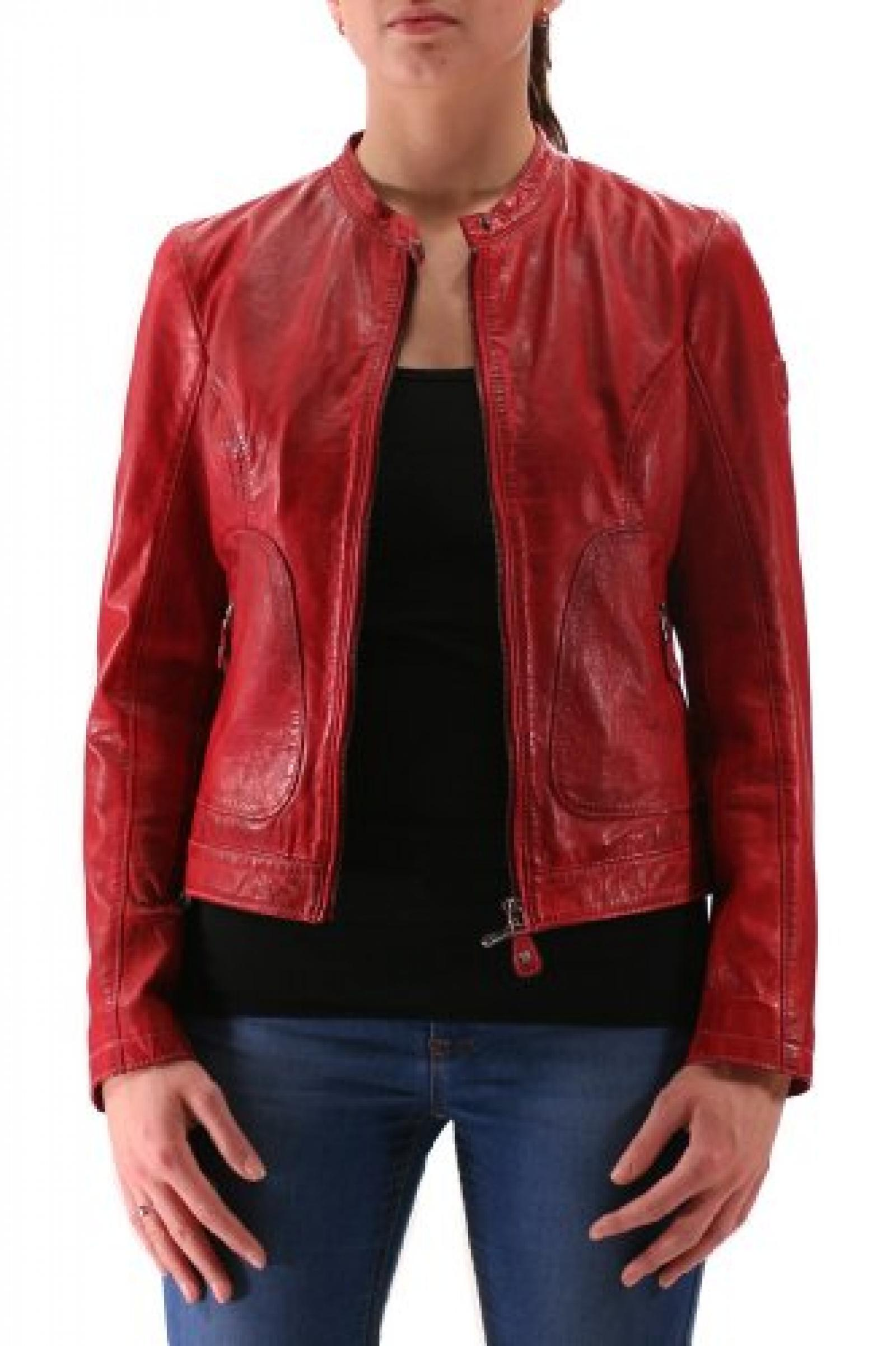 Celin 3 Lacal red Mauritius Lederjacke, Damen, Outerwear