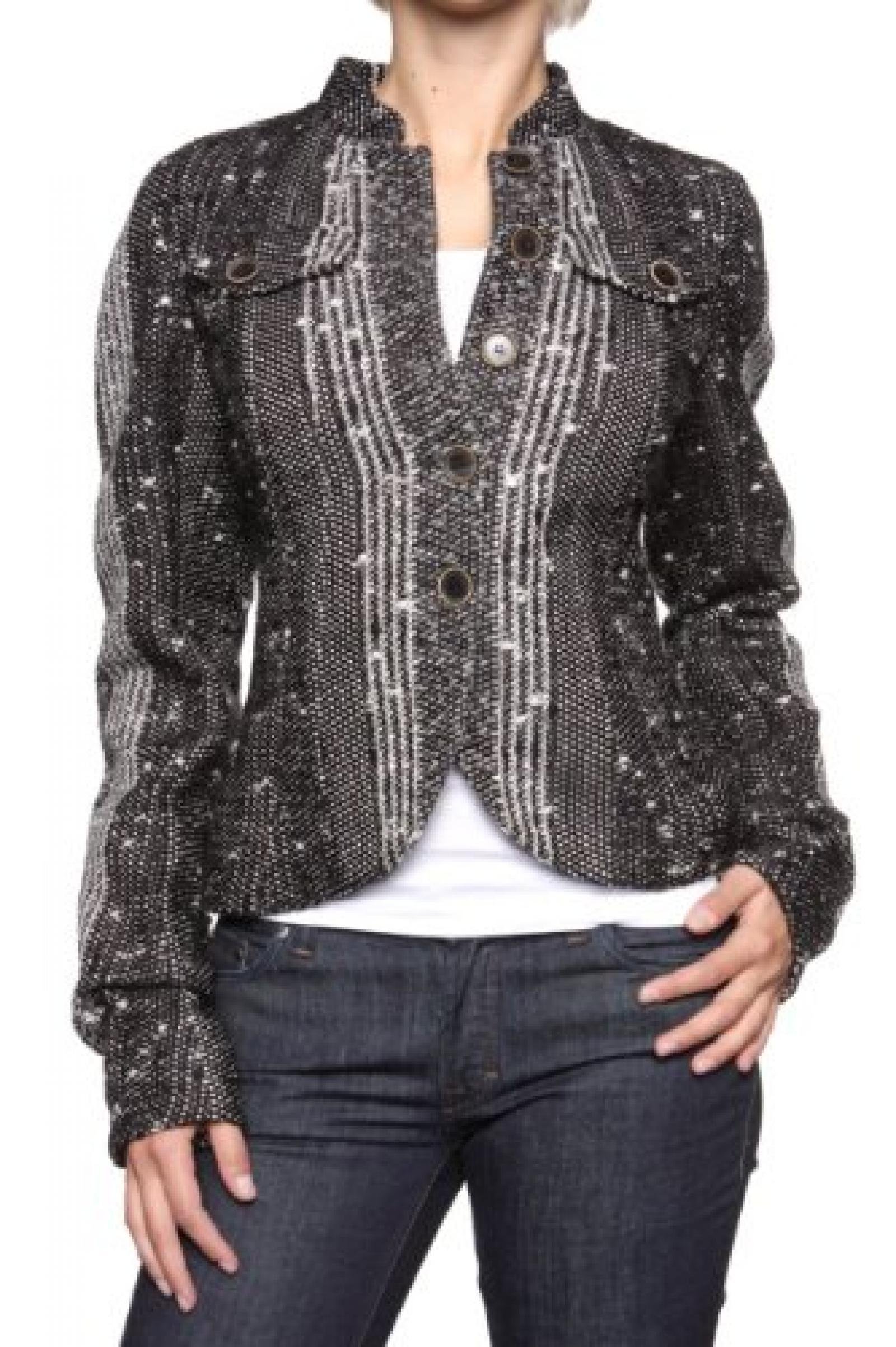 John Galliano Damen Jacke , Farbe: Schwarz