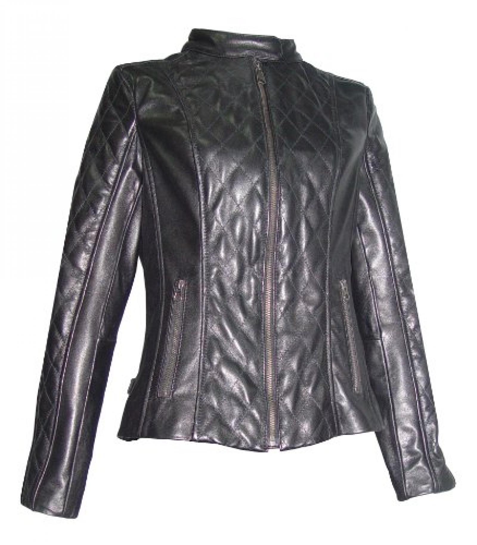 Nettailor Women 4060 Lamb Leather Quilted Moto Jacket